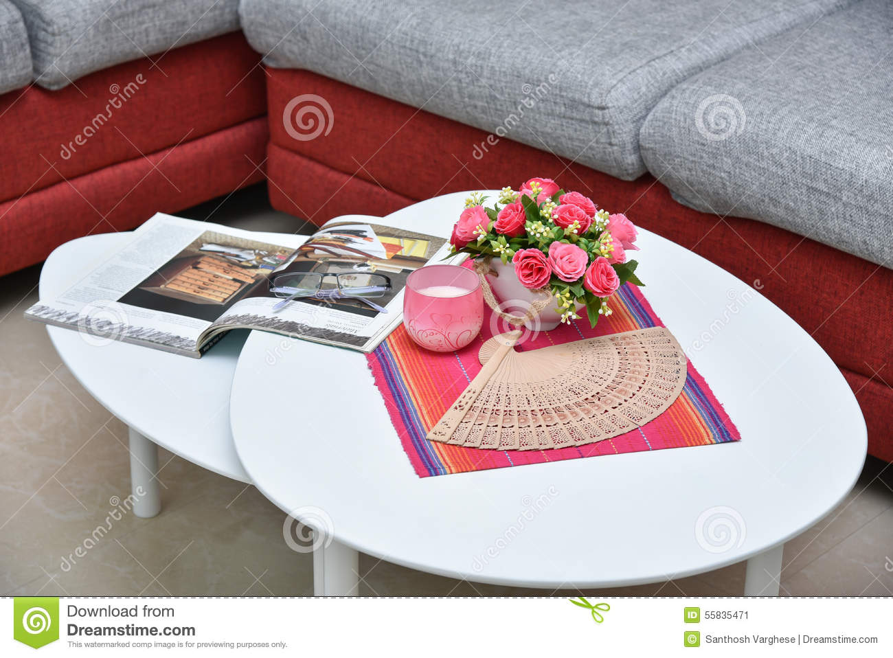 Picture of: Centre Table In Living Room Stock Image Image Of Armchair House 55835471