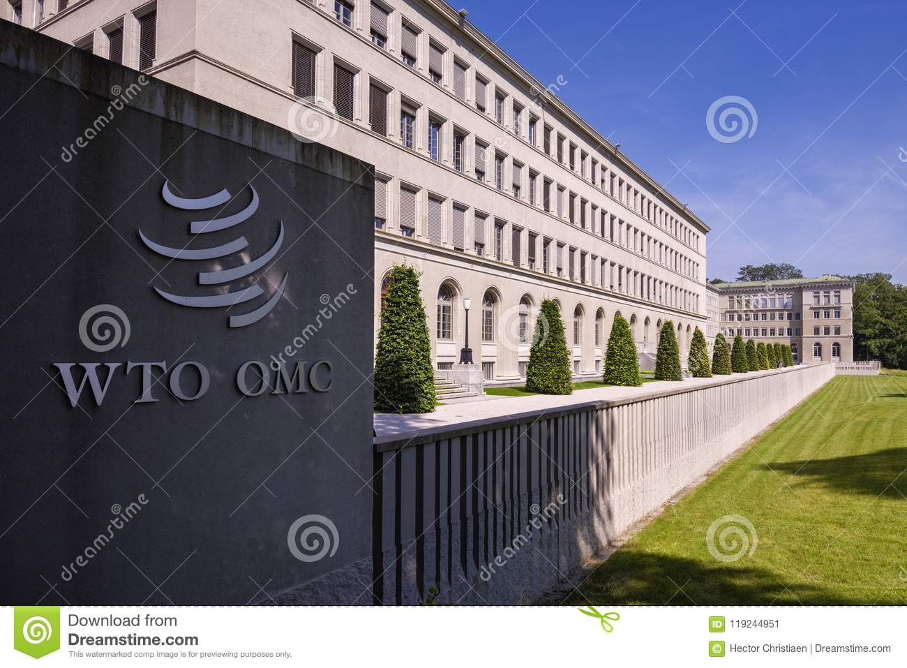 Geneva Switzerland The World Trade Organization Editorial Photo