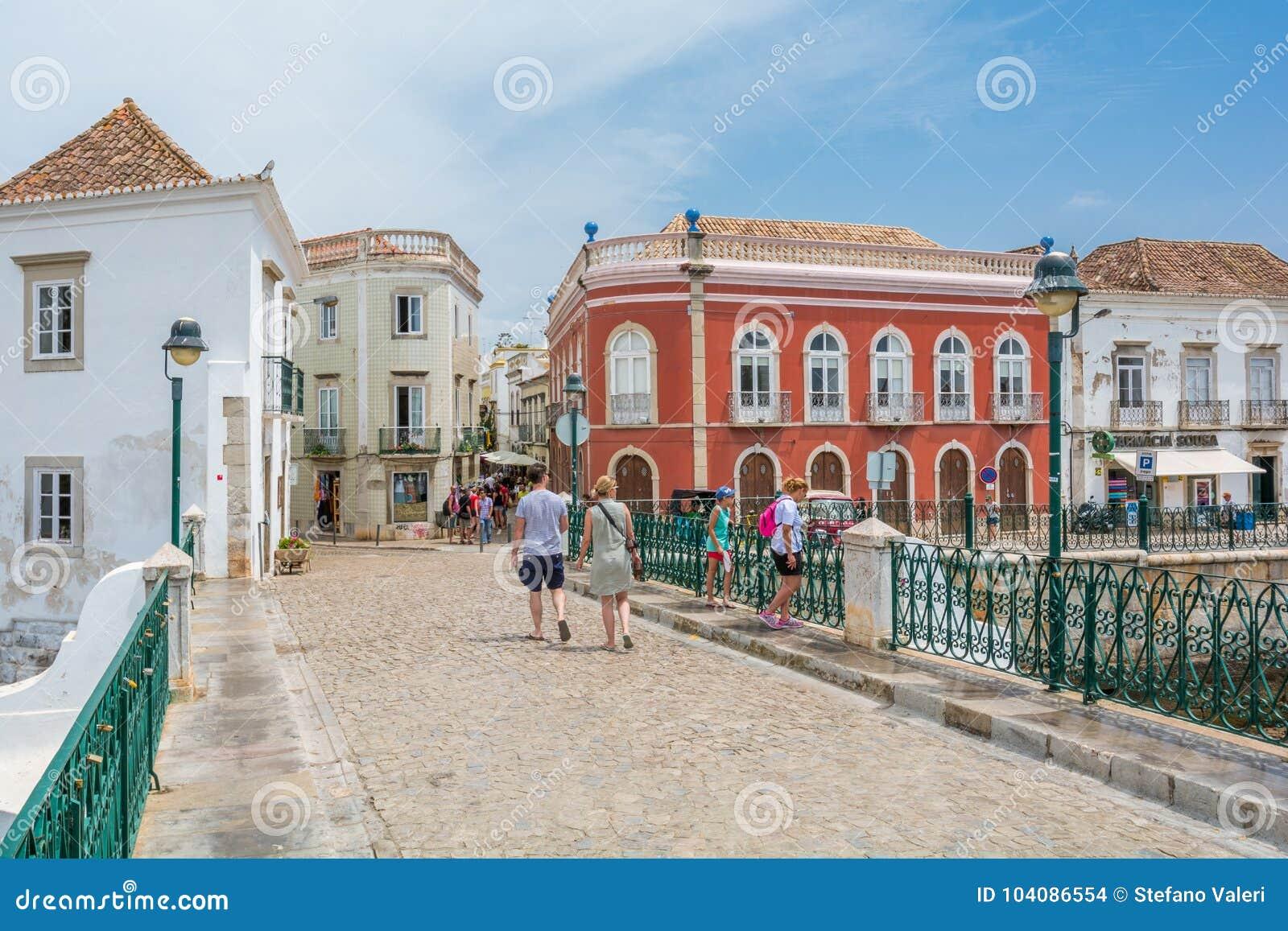 Centro città di Tavira, distretto di Faro, Algarve