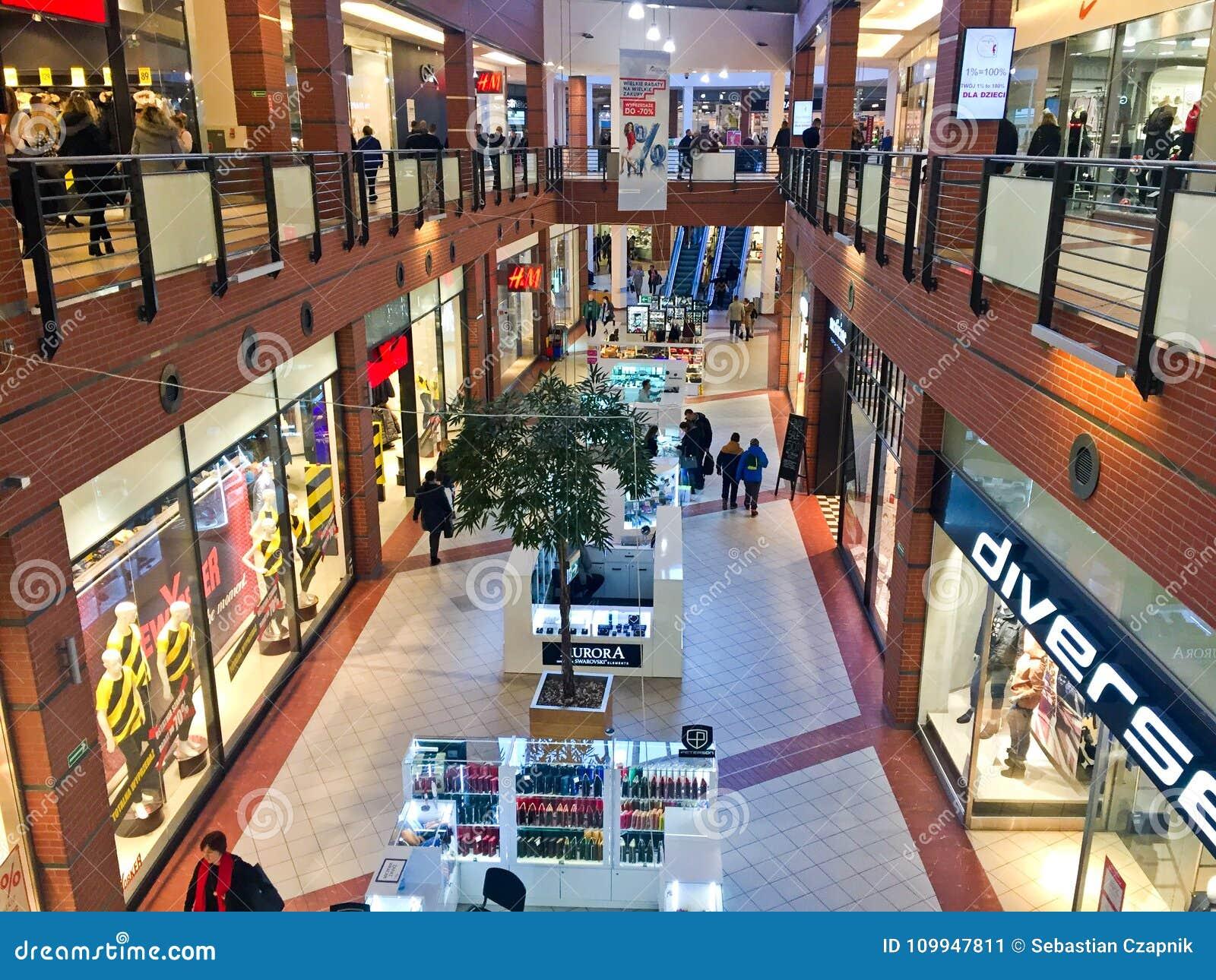 Centro comercial de la alameda del atrio de Koszalin Polonia