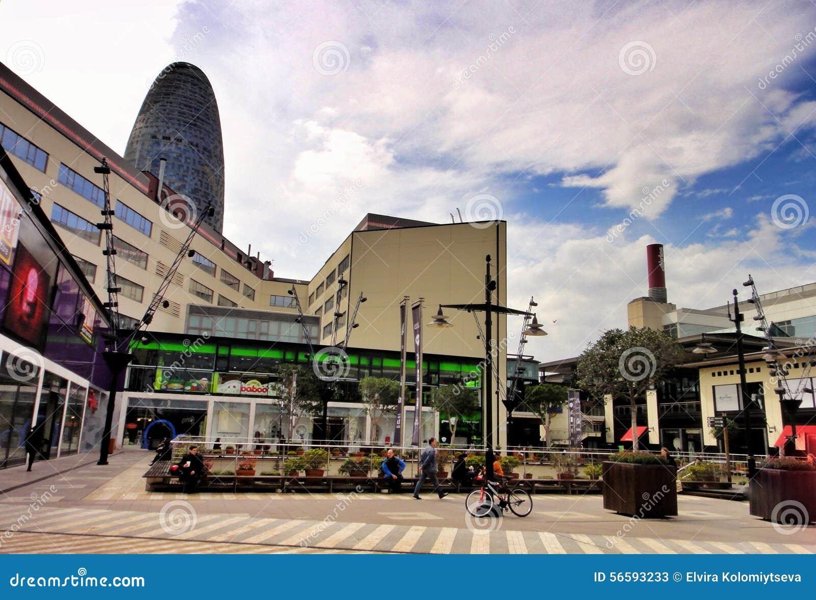 Centro commerciale diagonale a Barcellona, Spagna