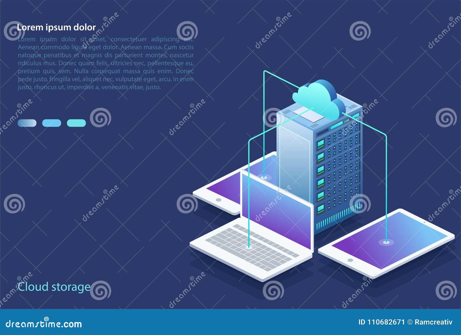 Centro dati con i dispositivi digitali