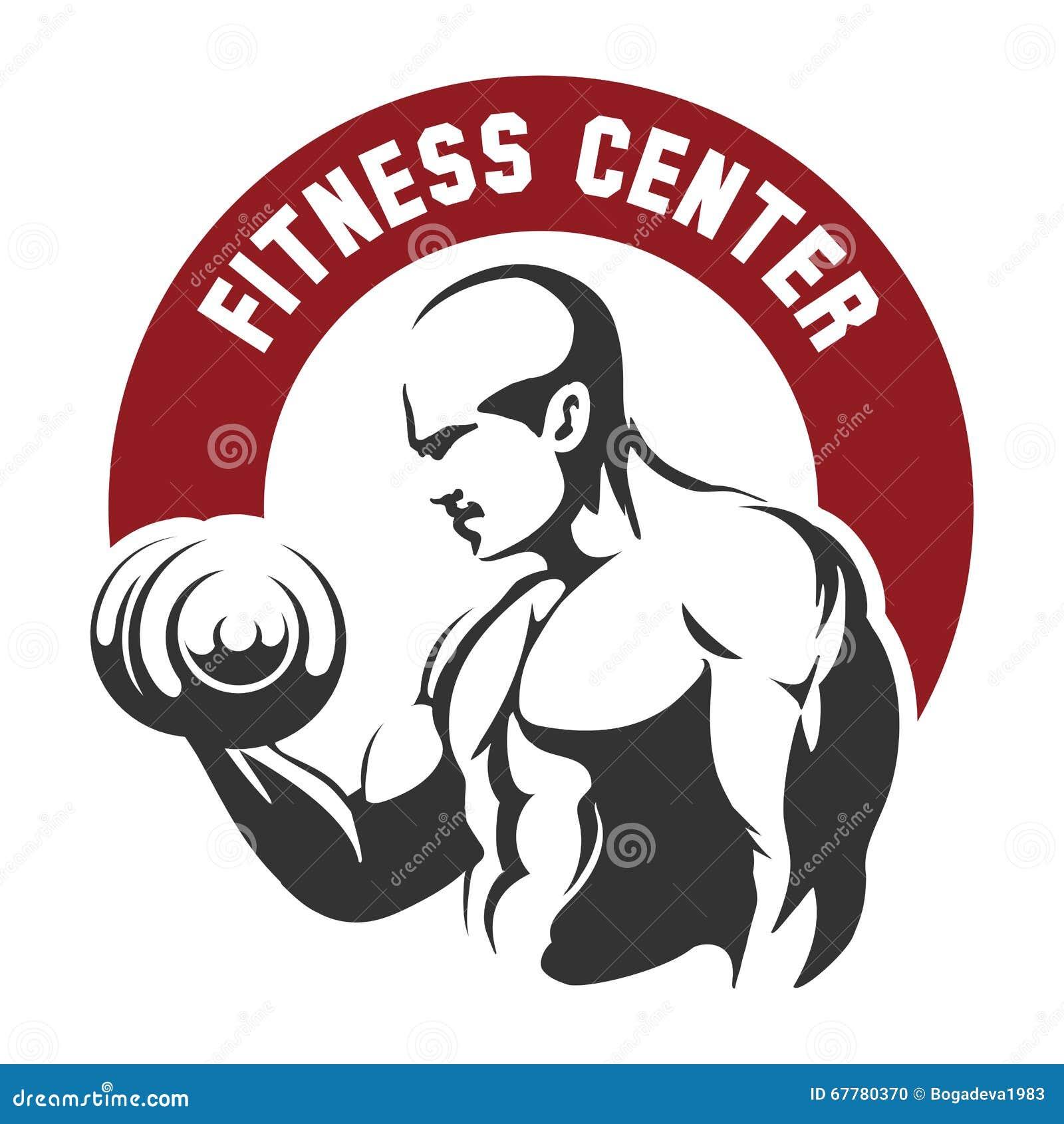 Centro de aptitud o emblema del gimnasio