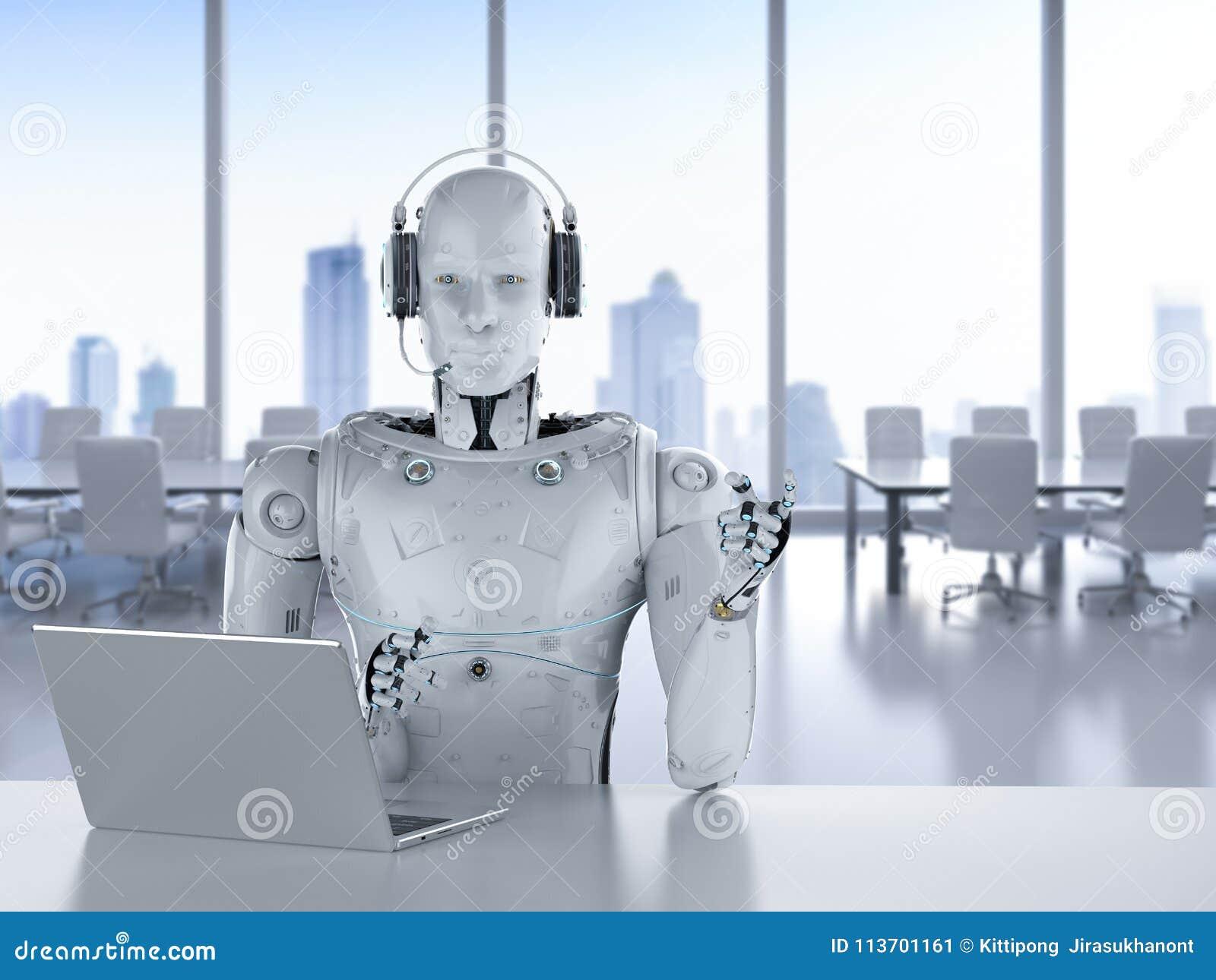 Centro de atención telefónica del robot