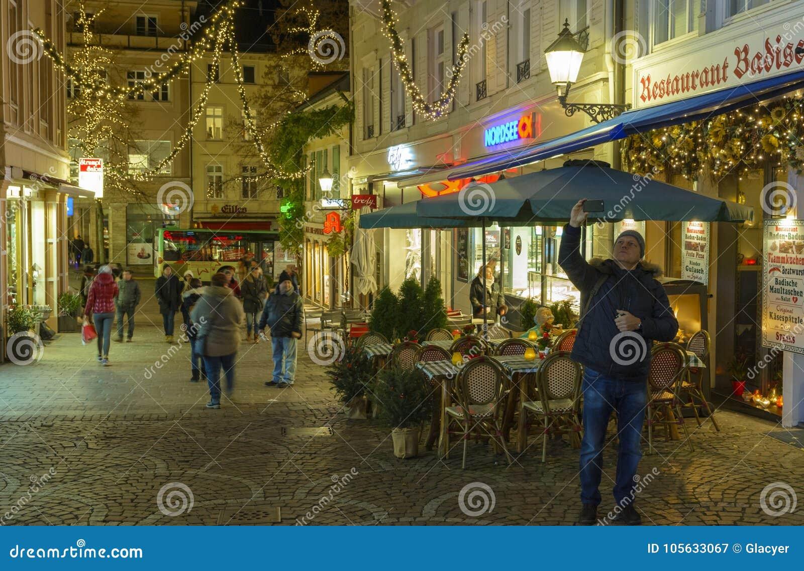 Centro De Ciudad Histórico De Baden Baden Con Las