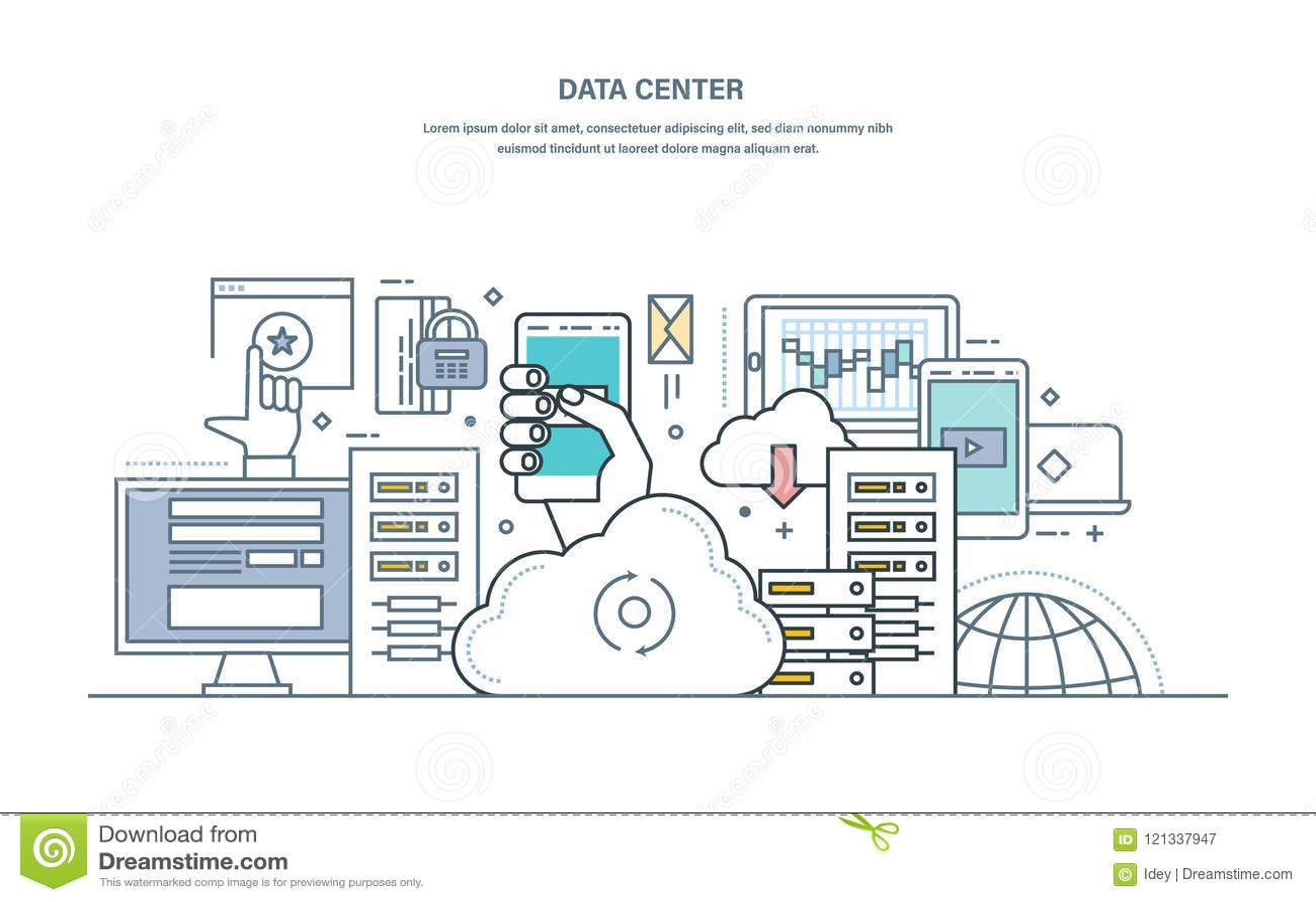 Centro de datos Núblese el almacenamiento, almacenamiento de datos seguro, servidor del web hosting