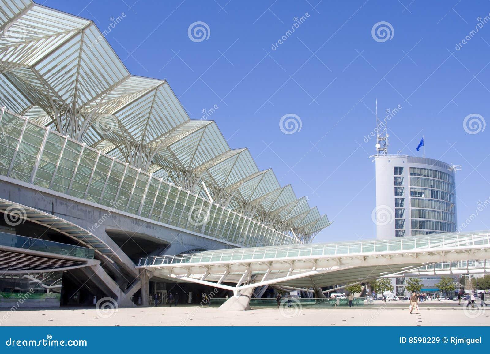 Centro de negócios do edifício moderno da arquitetura