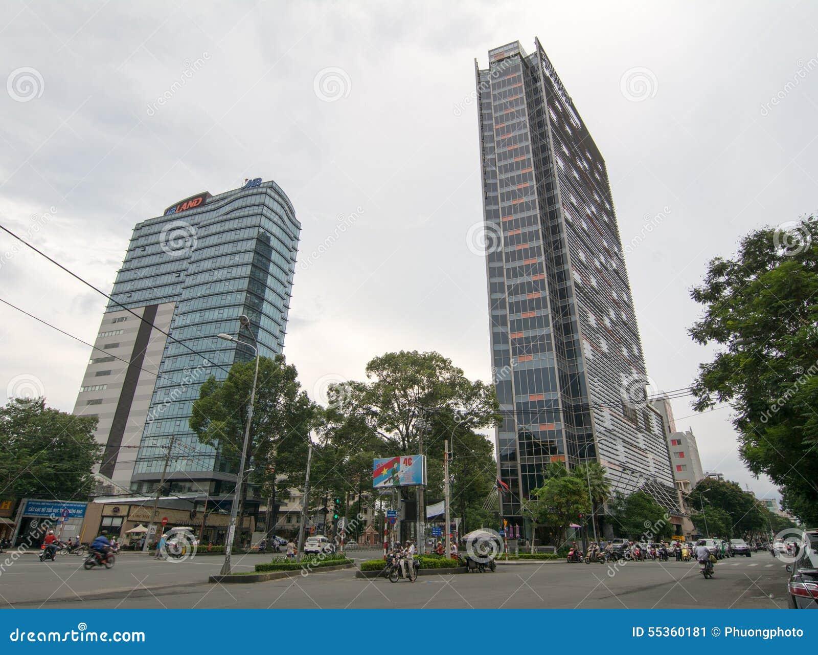 Centro del pullman nella città del minh di Ho Chi