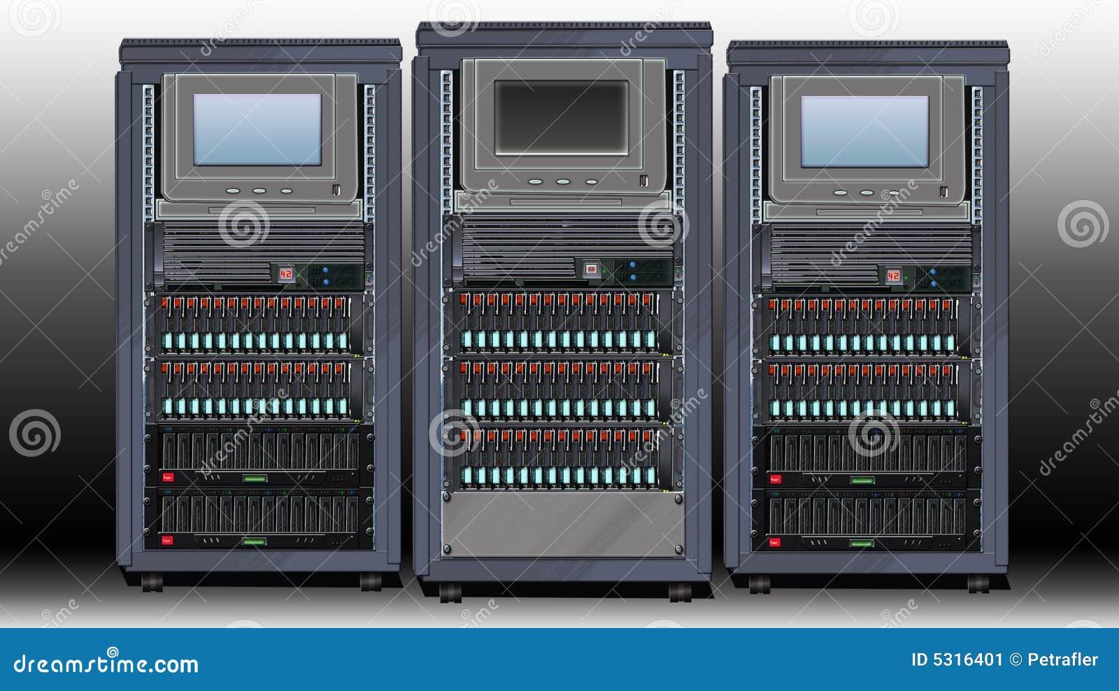 Download Centro di calcolo illustrazione di stock. Illustrazione di montato - 5316401