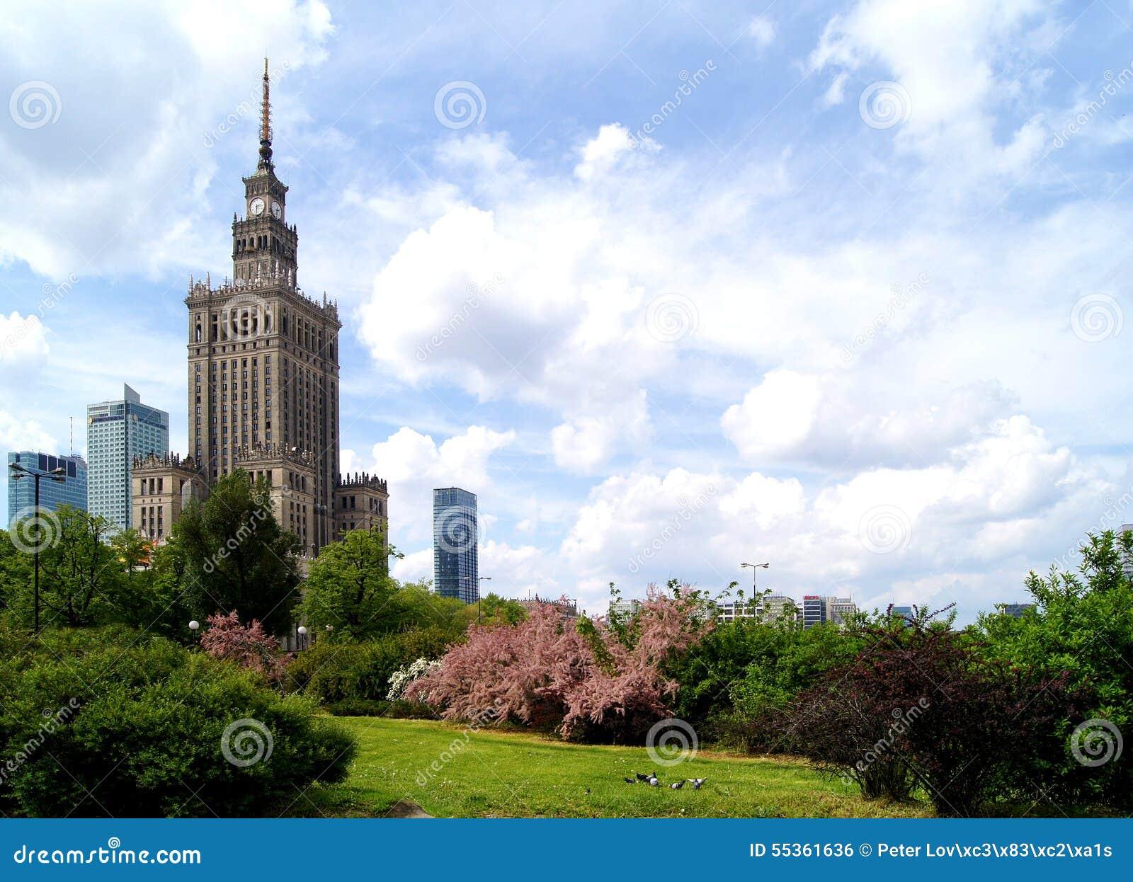 Centro di Varsavia - palazzo di cultura e di scienza