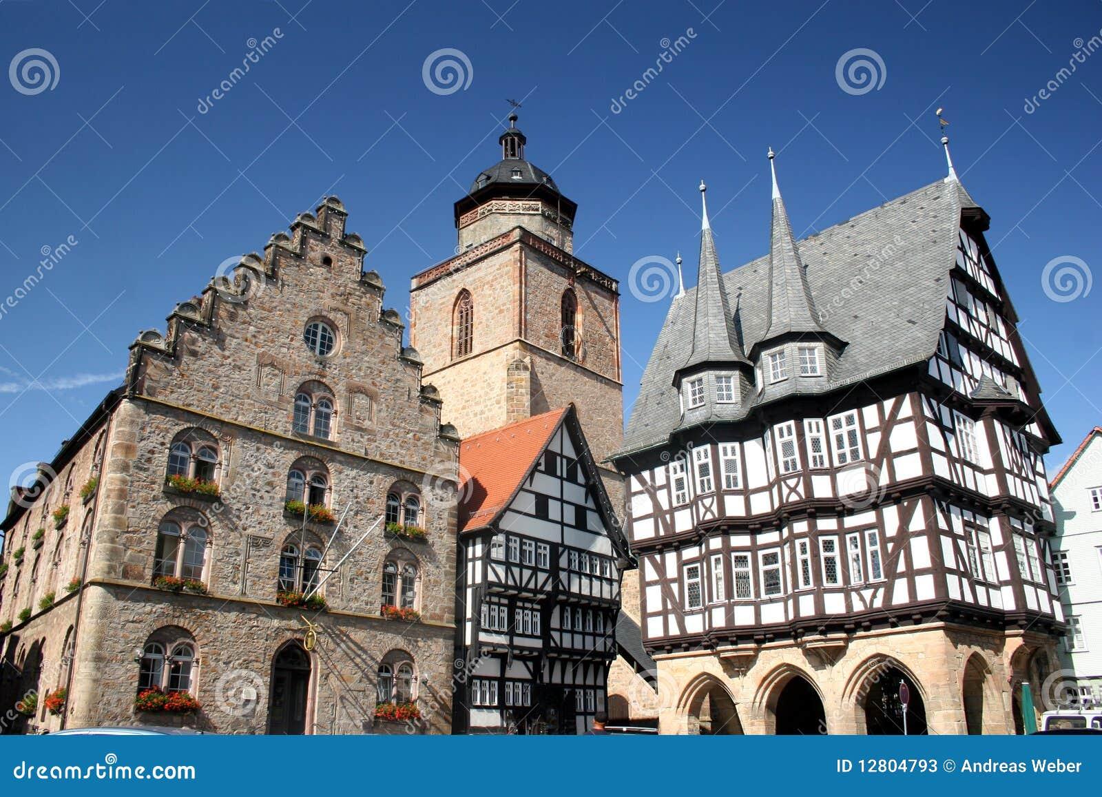Centro histórico da cidade alemão Alsfeld