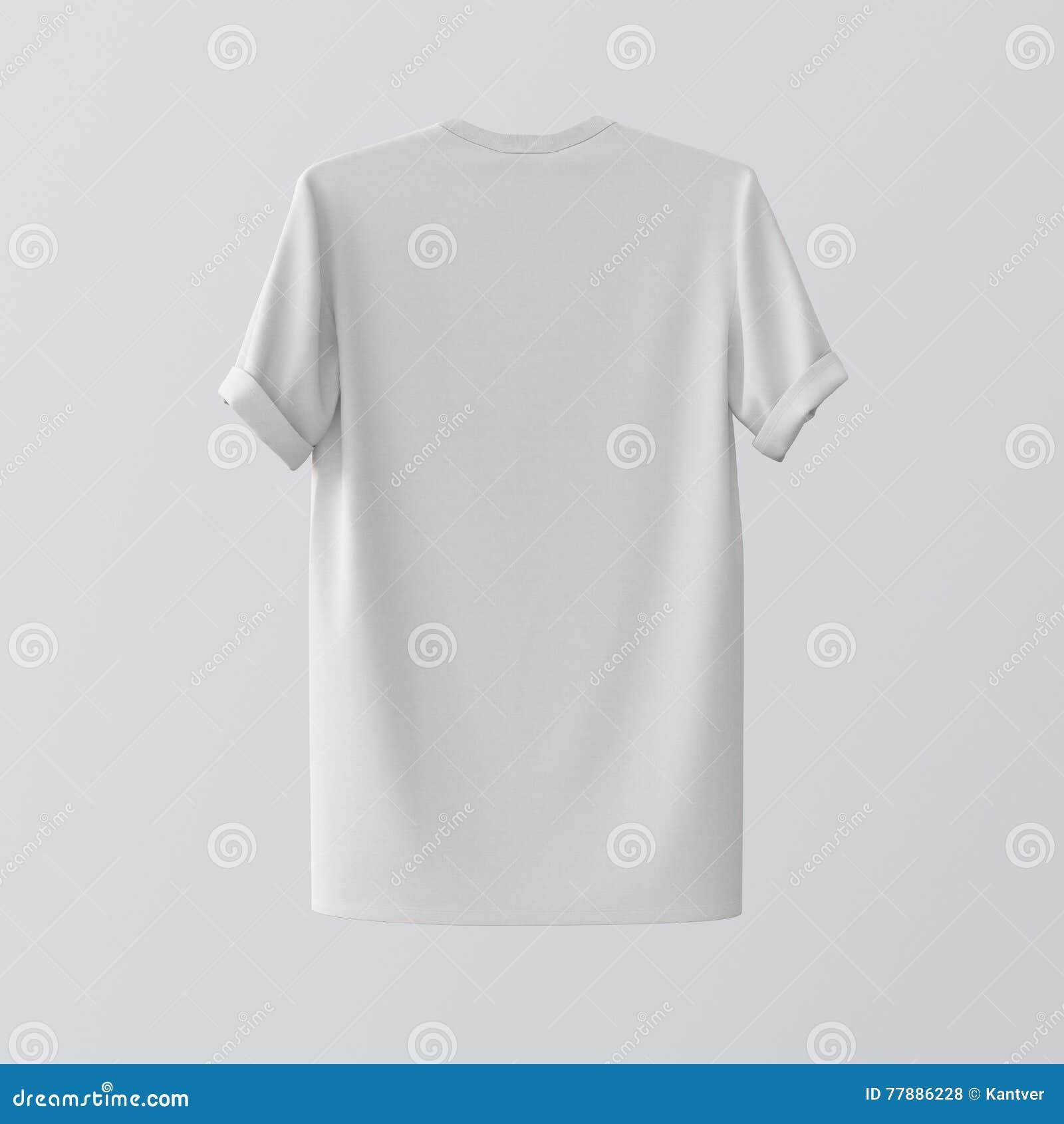 Centro isolado Gray Empty Background de matéria têxtil Tshirt branco vazio Materiais altamente detalhados da textura do modelo Et