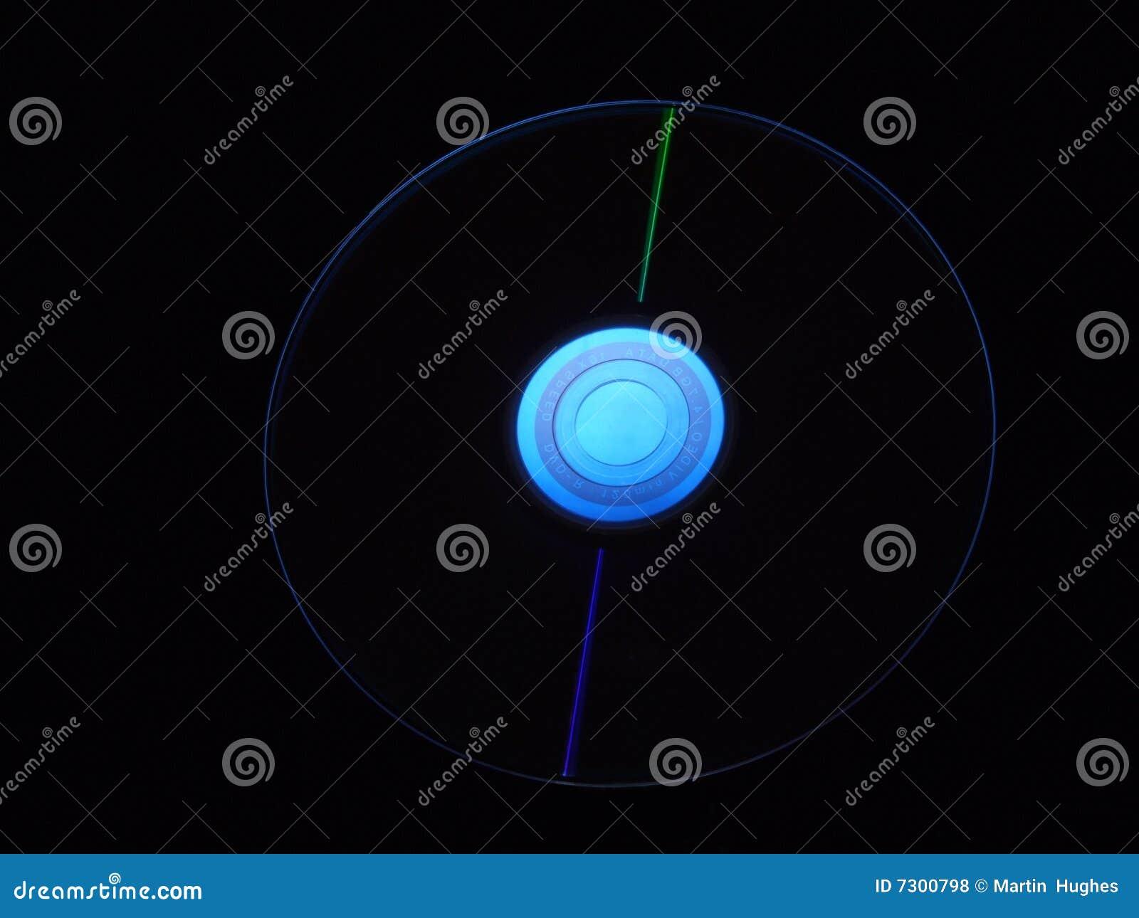 Centro nero dell azzurro della priorità bassa di Dvd