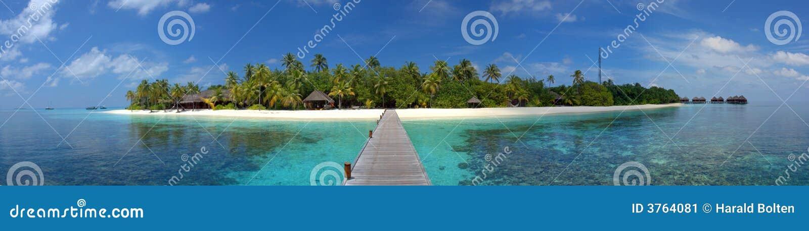 Centro turístico de isla maldiva