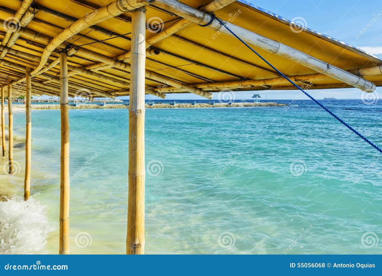 Centro turístico del mar del jardín de Filipinas