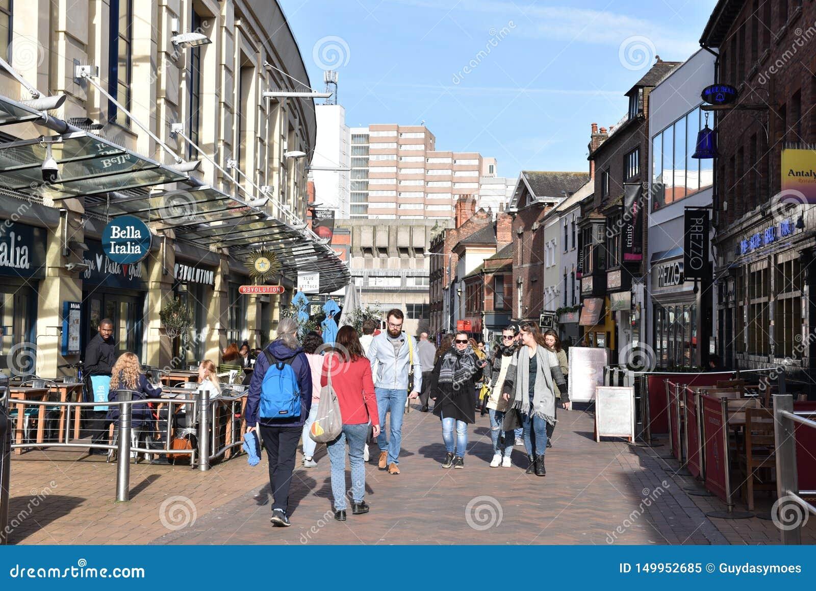 Centro urbano di Nottingham