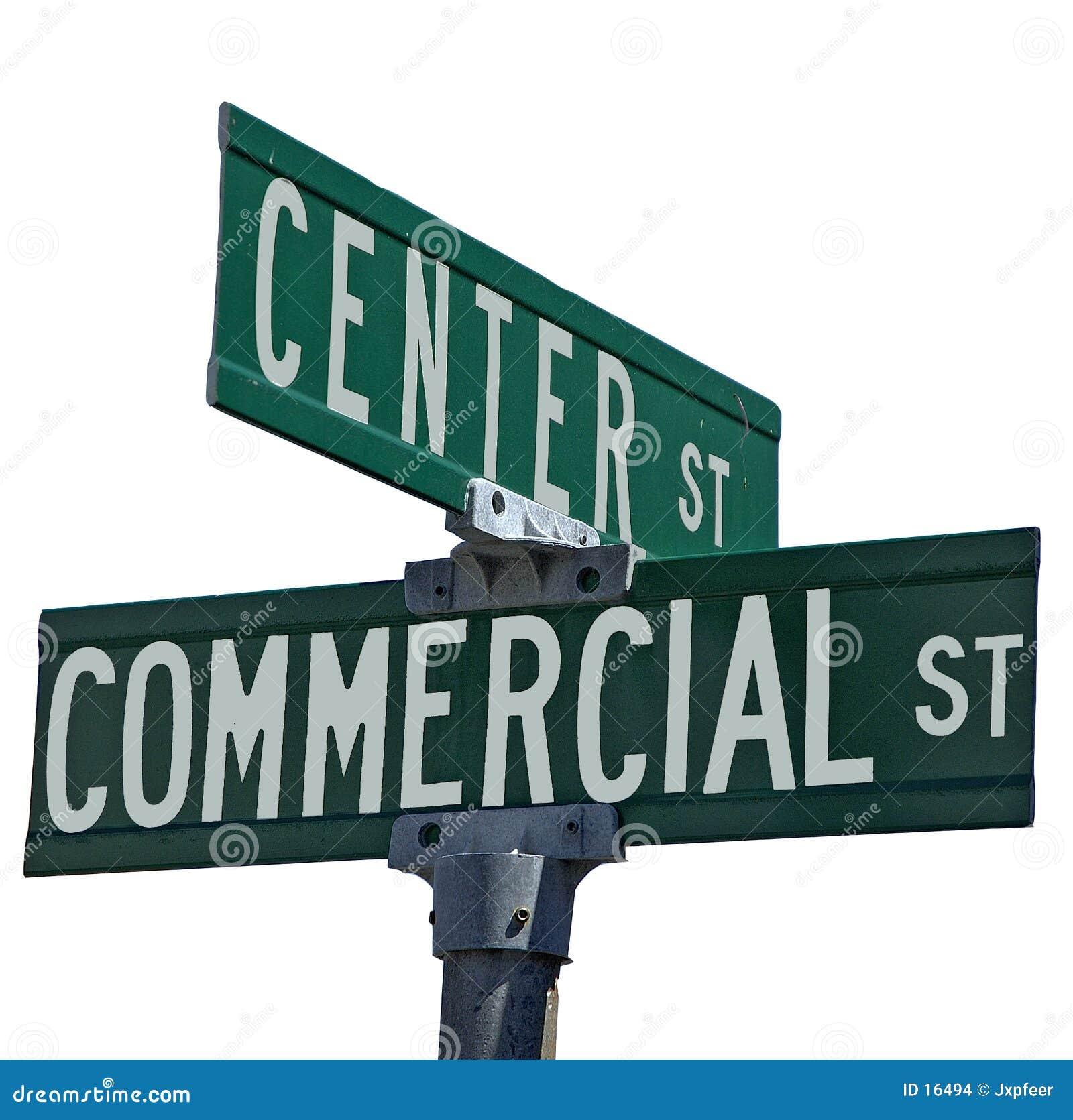 Centro y anuncio publicitario