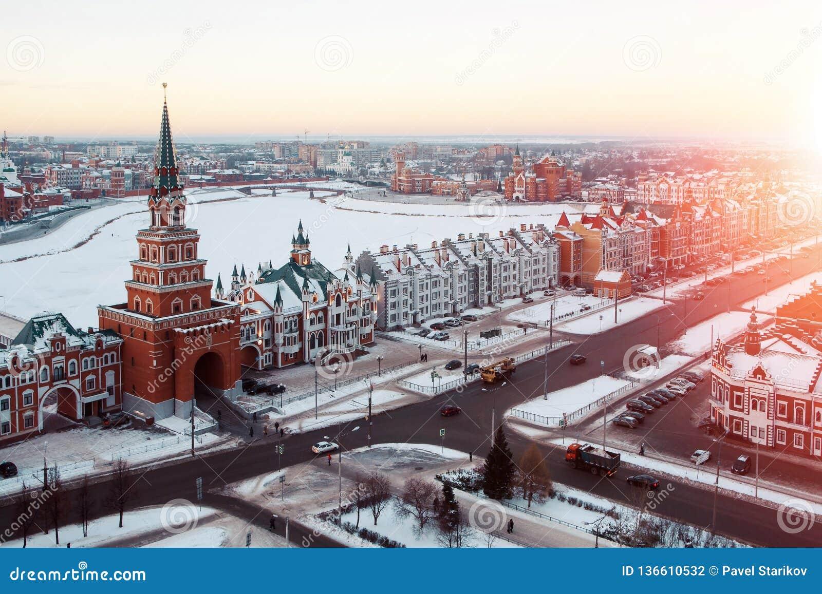 Centrum av denOla staden, Ryssland