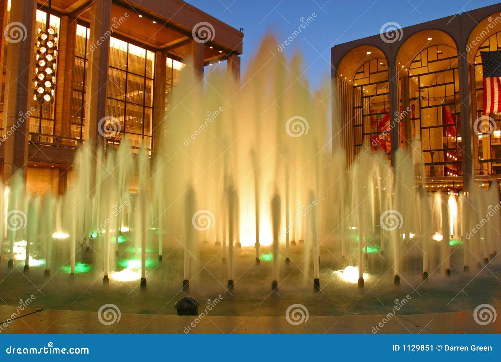 Centrum fontanny Lincoln nowy York na zewnątrz