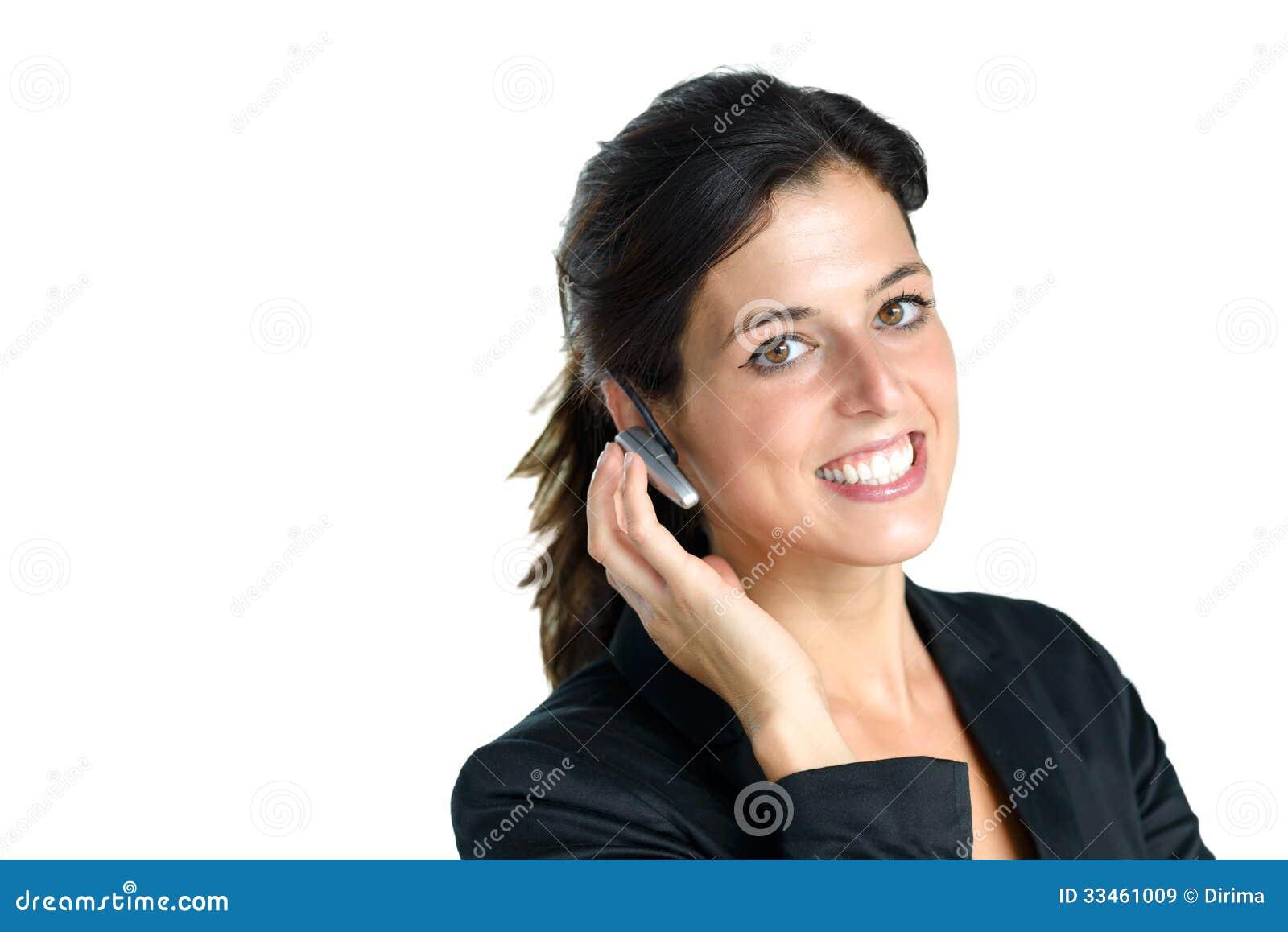 Centrum telefoniczne operator z słuchawki