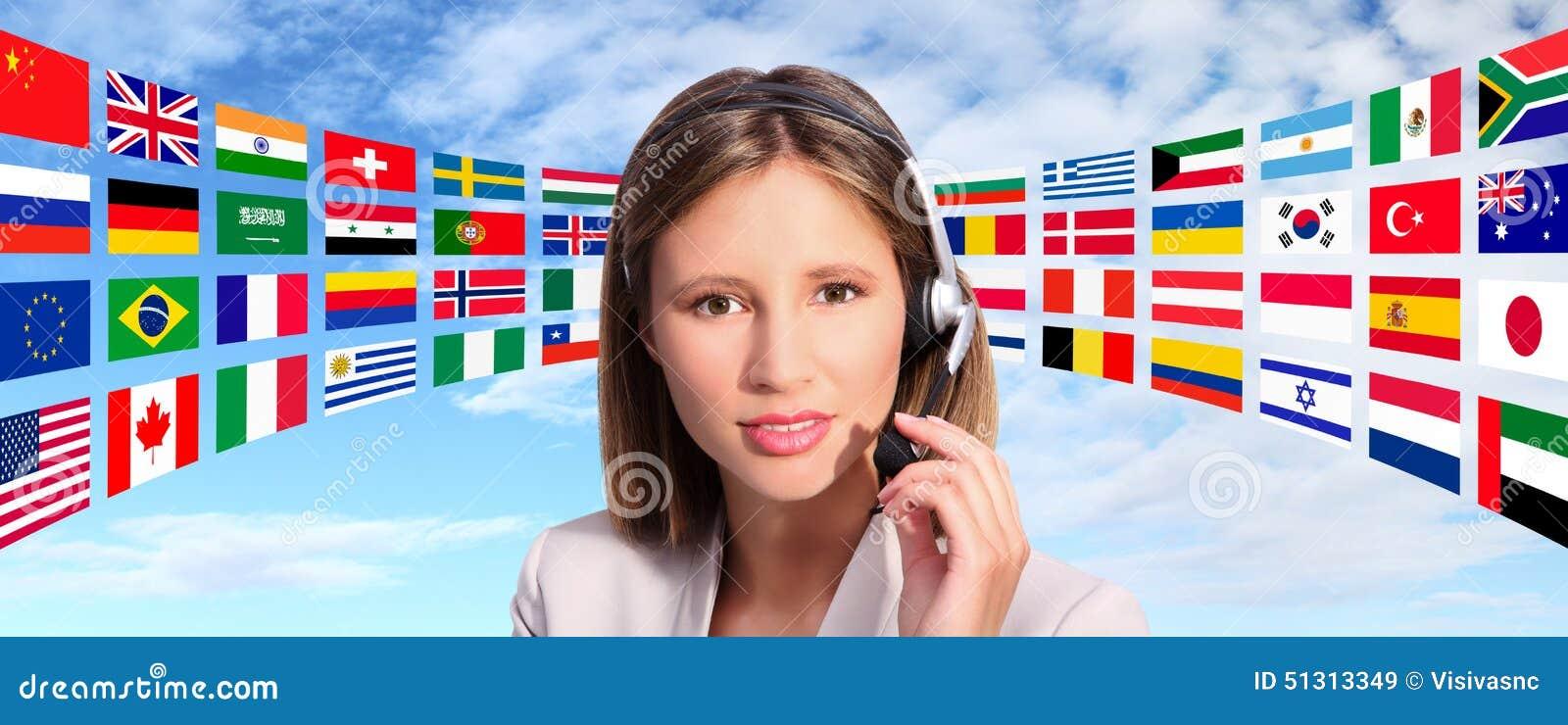 Centrum telefoniczne operatora zawody międzynarodowi kontakt