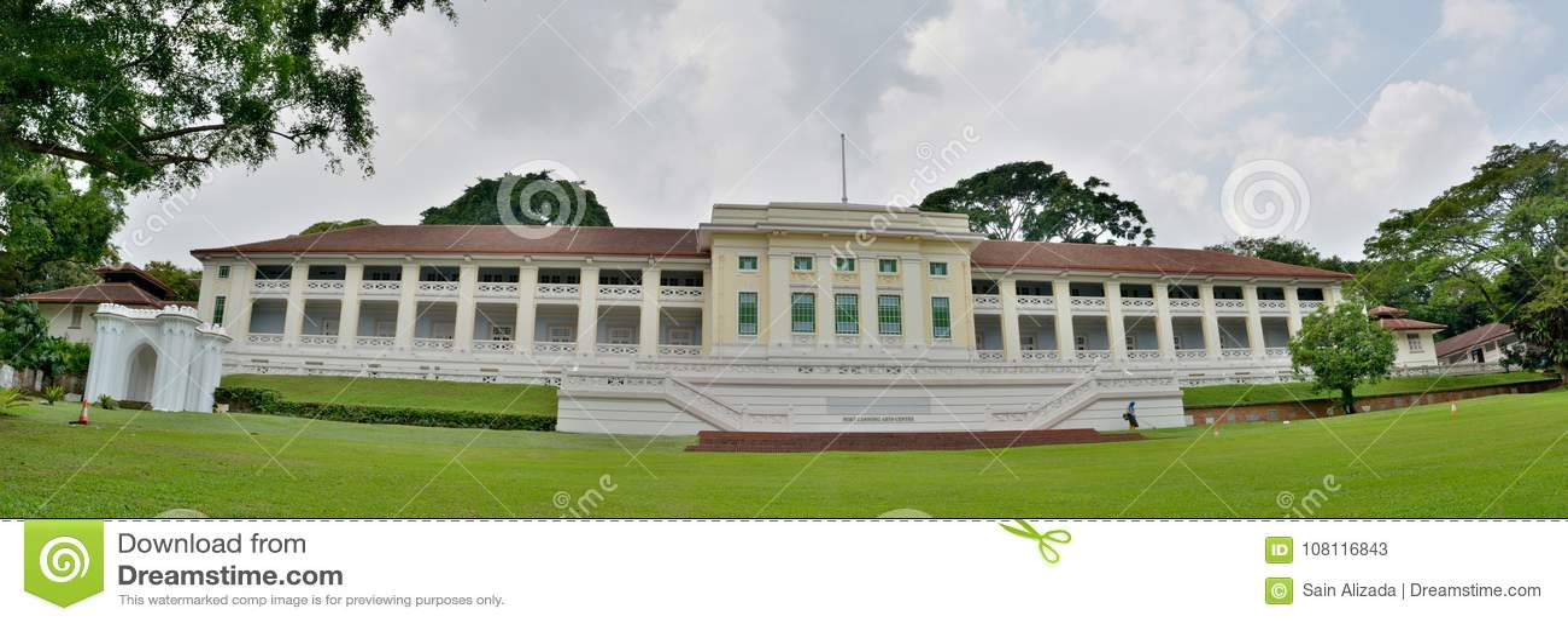 Centrum van fort het Inblikkende Kunsten in Singapore