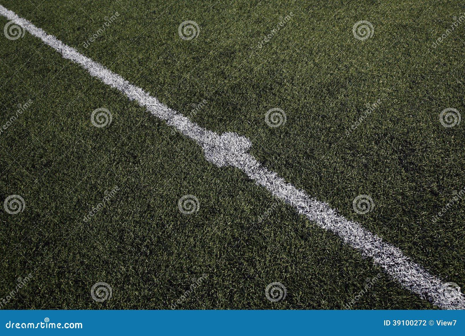 Centrumvlek op een voetbalhoogte