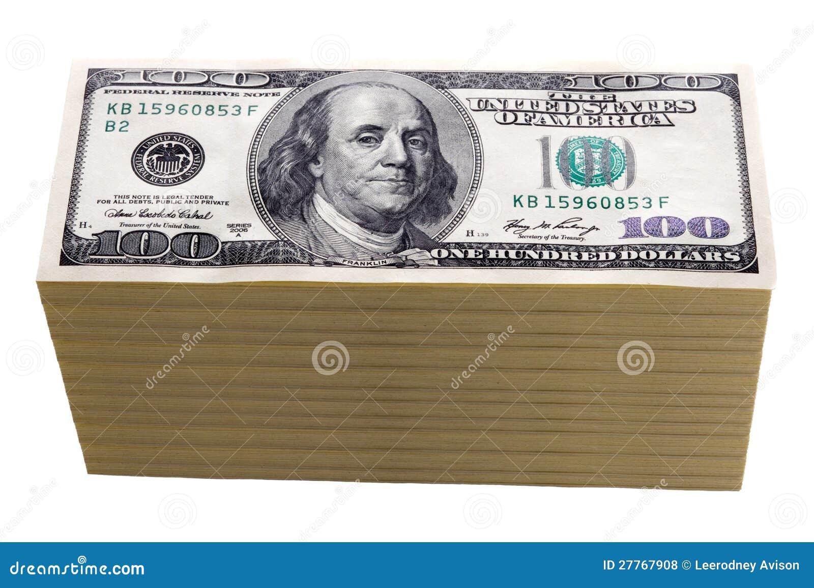Cents billets d un dollar d isolement
