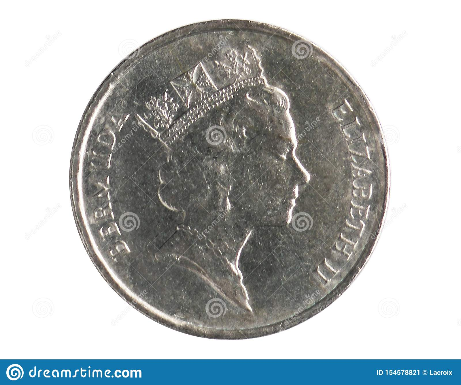 5 Cents coin, 1970~Today - Circulation - Dollar serie, Bank of Bermuda