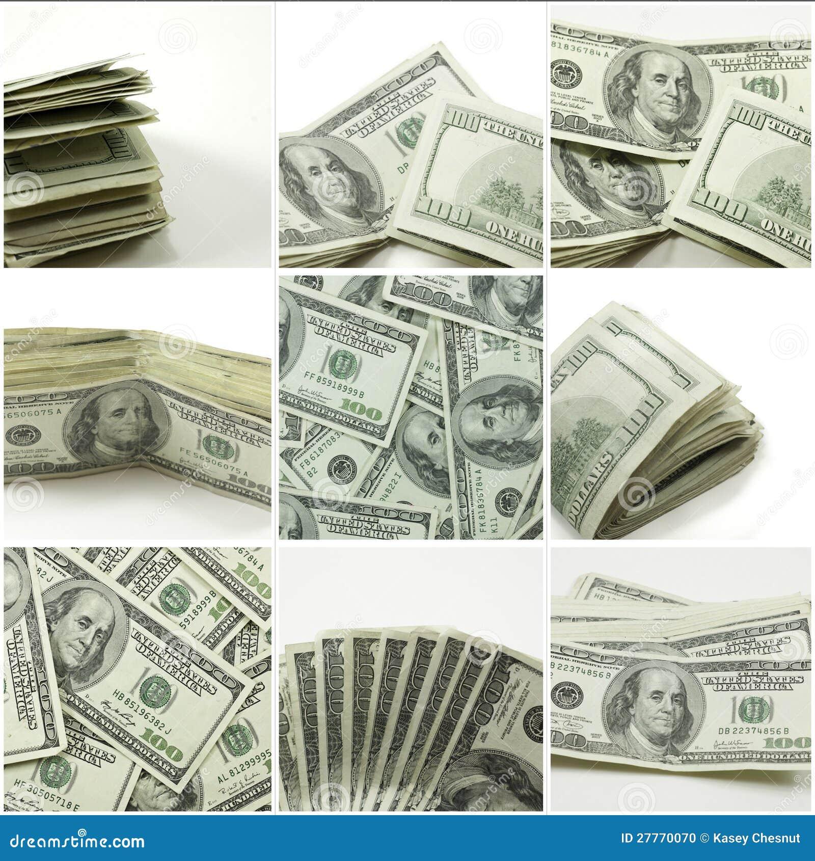 Cents collages de billet d un dollar