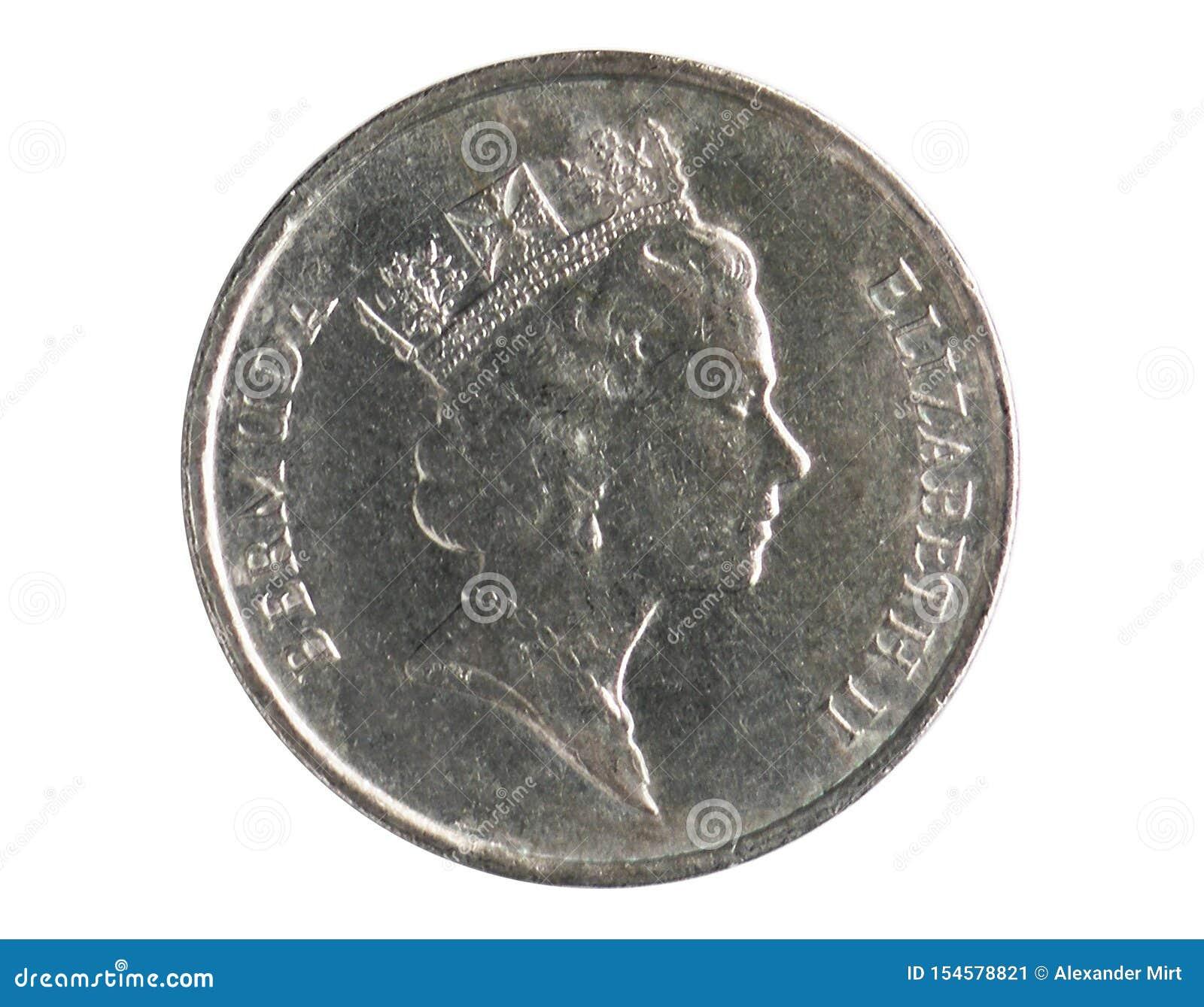 5 Cents prägen, 1970~Today - Zirkulation - Dollar serie, Bank von Bermuda