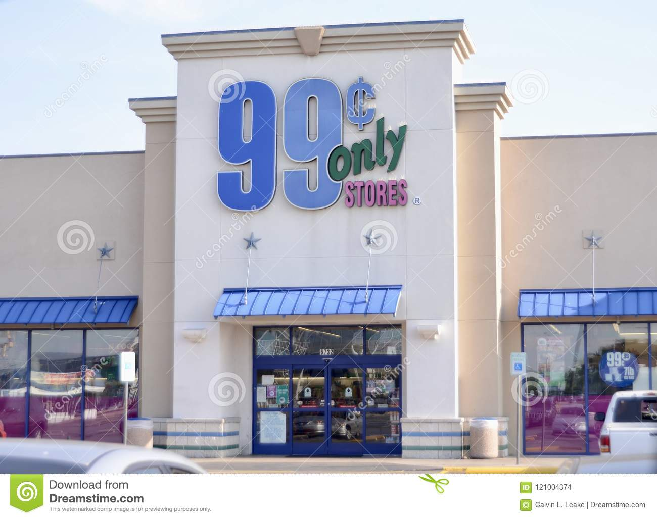 99 Cents Only Stores Fort Worth Texas Editorial Stock Image