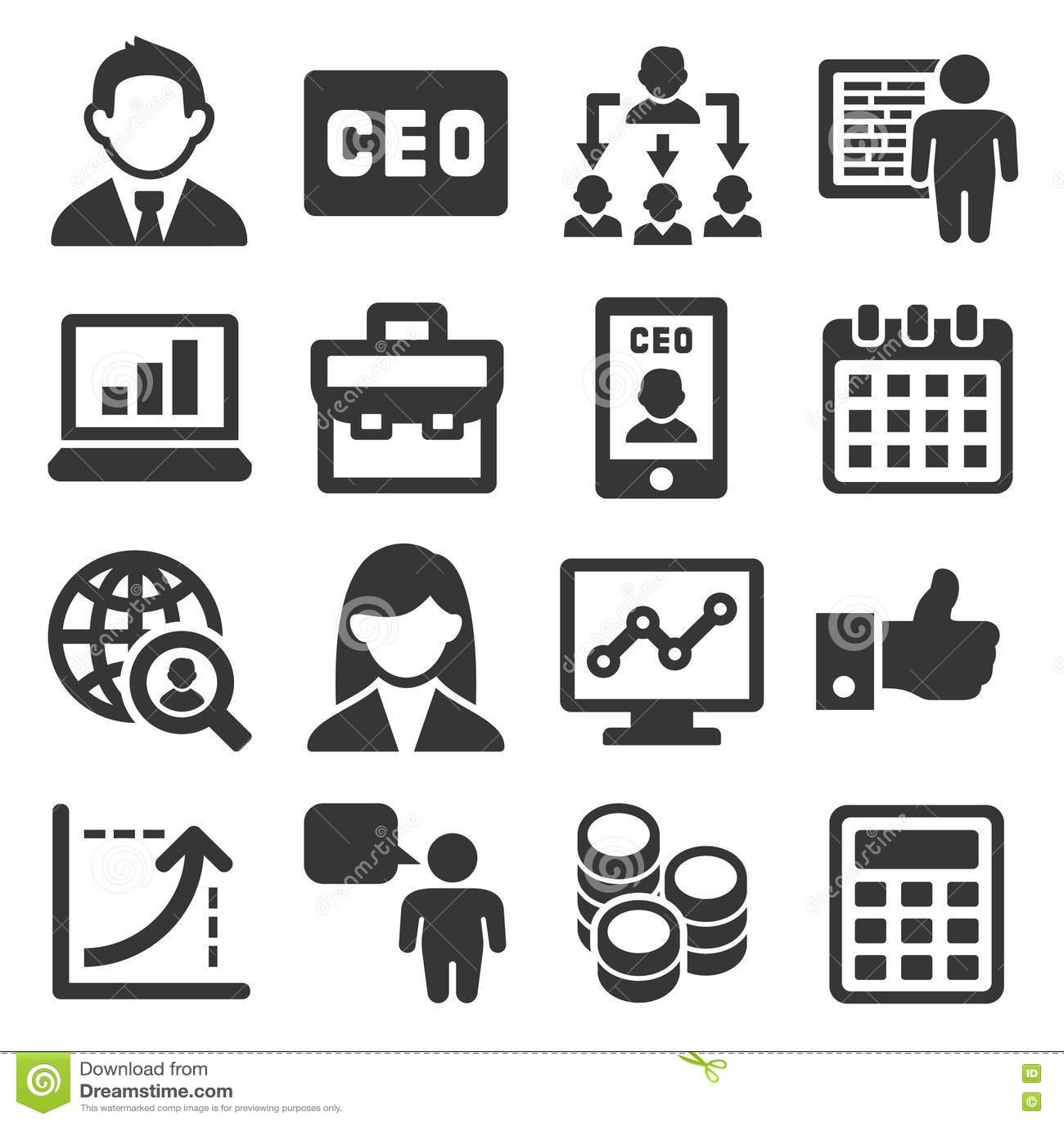 CEO和被设置的业务管理象 向量