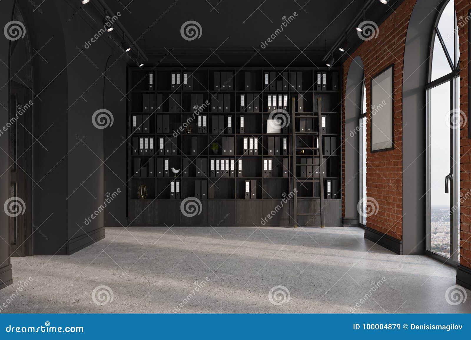 ceo bureau boekenkast en affiche