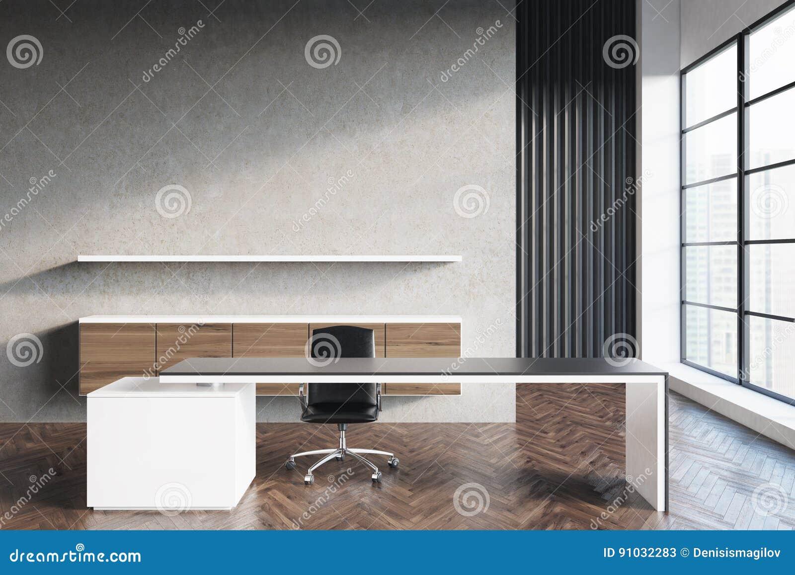 Bureau Plank Aan Muur.Ceo Bureau Met Plank Voorzijde Stock Illustratie