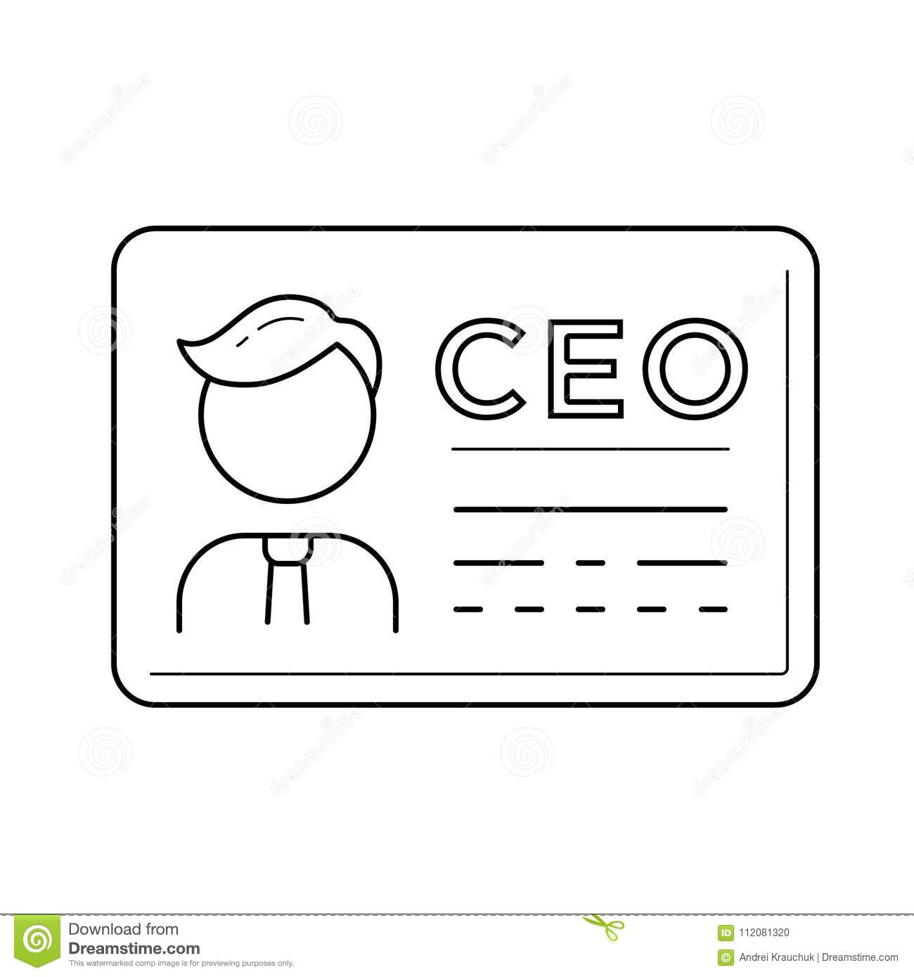 Ceo business card vector line icon stock vector illustration of download ceo business card vector line icon stock vector illustration of draw business colourmoves