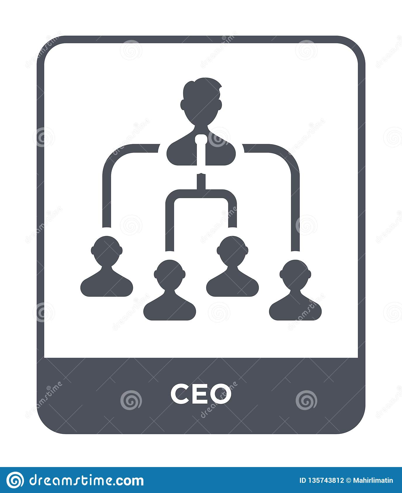 ceo icon in trendy design style. ceo icon isolated on white background. ceo vector icon simple and modern flat symbol for web site