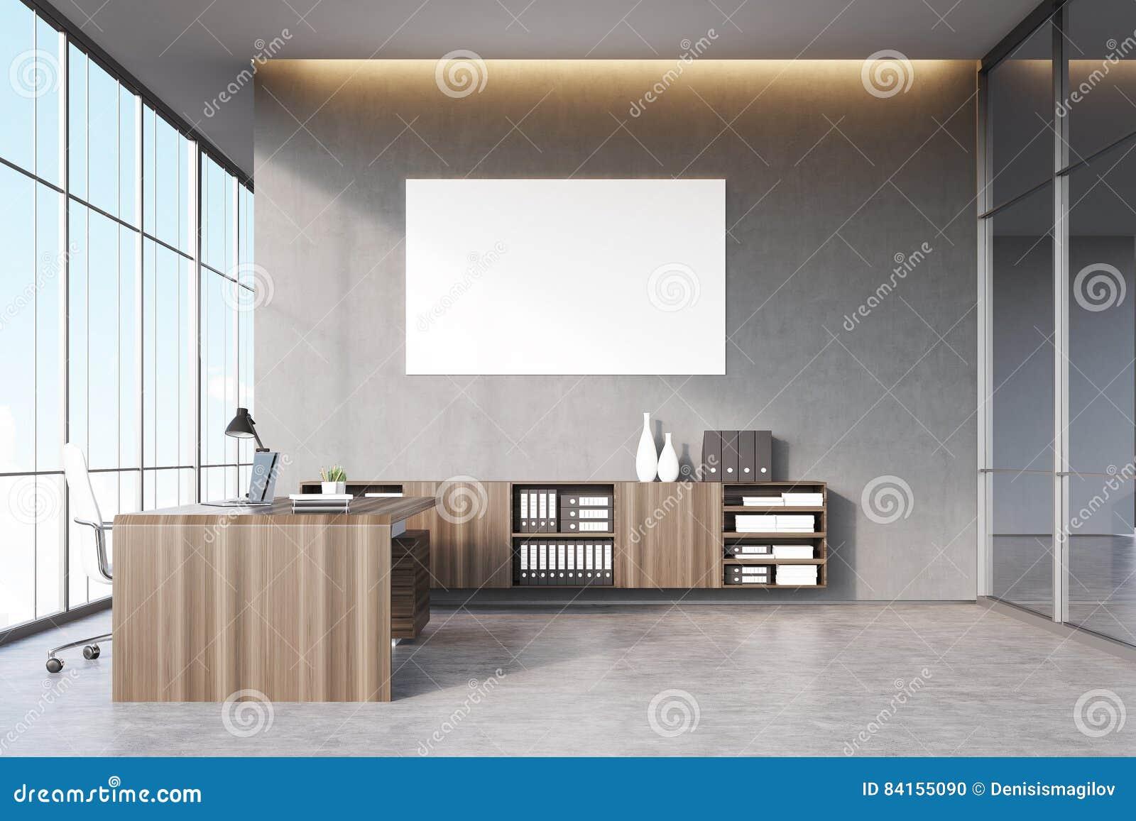 Ufficio Vetro E Legno : Ceo ufficio con mobilia di legno scura la finestra panoramica