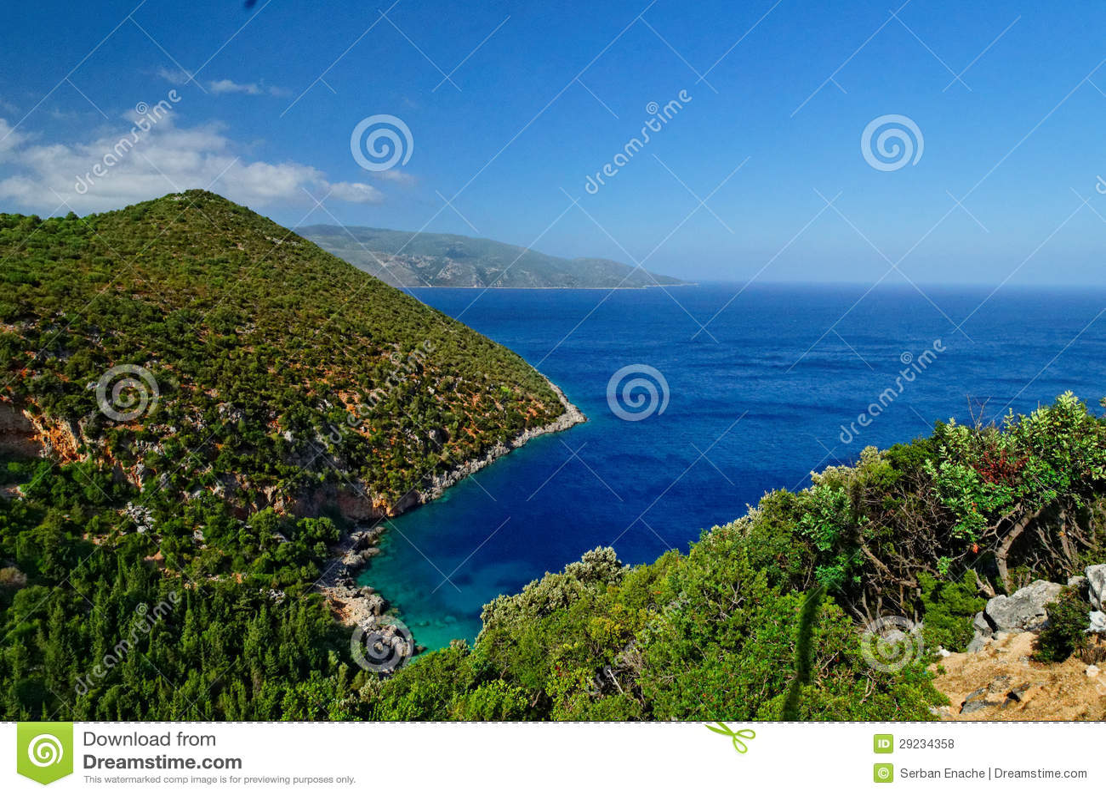Download Cephalonia foto de stock. Imagem de montes, horizonte - 29234358