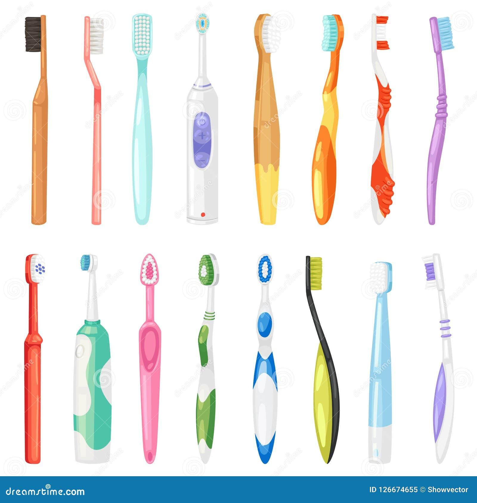Cepillo de dientes dental de la higiene del vector de Toothbrushe para el sistema de cepillado de la odontología del ejemplo de l