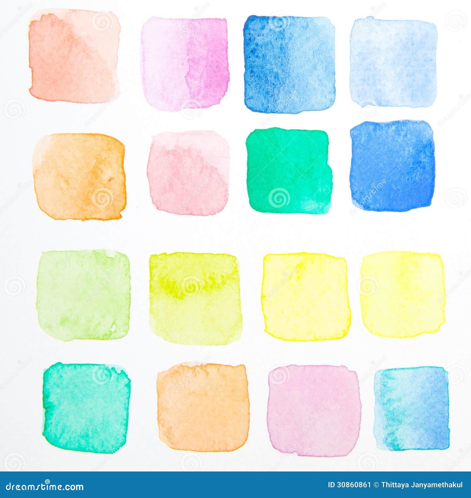Cepillo De La Prueba Del Color De Agua Imagen de archivo - Imagen de ...