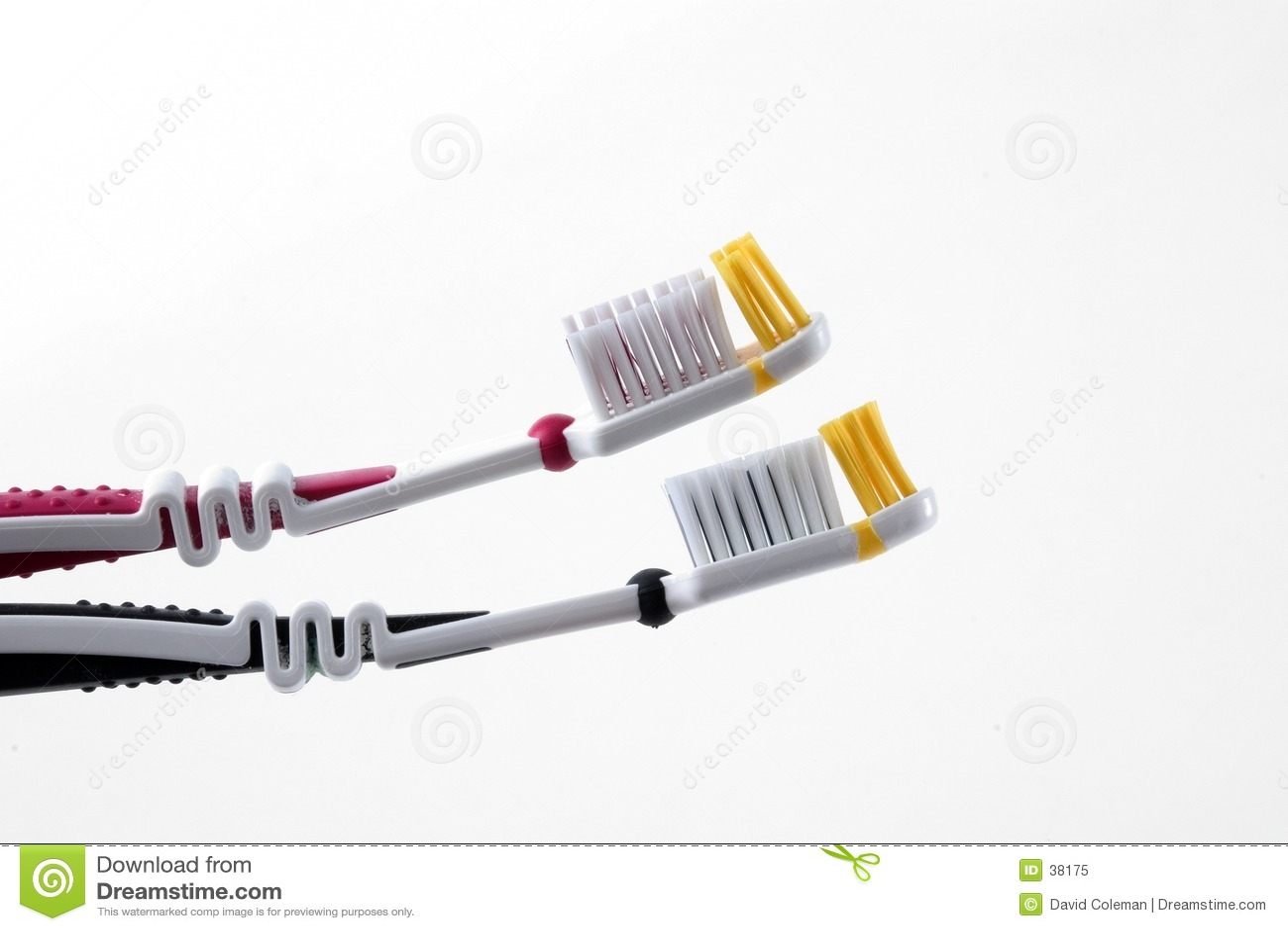 Cepillos de dientes en perfil