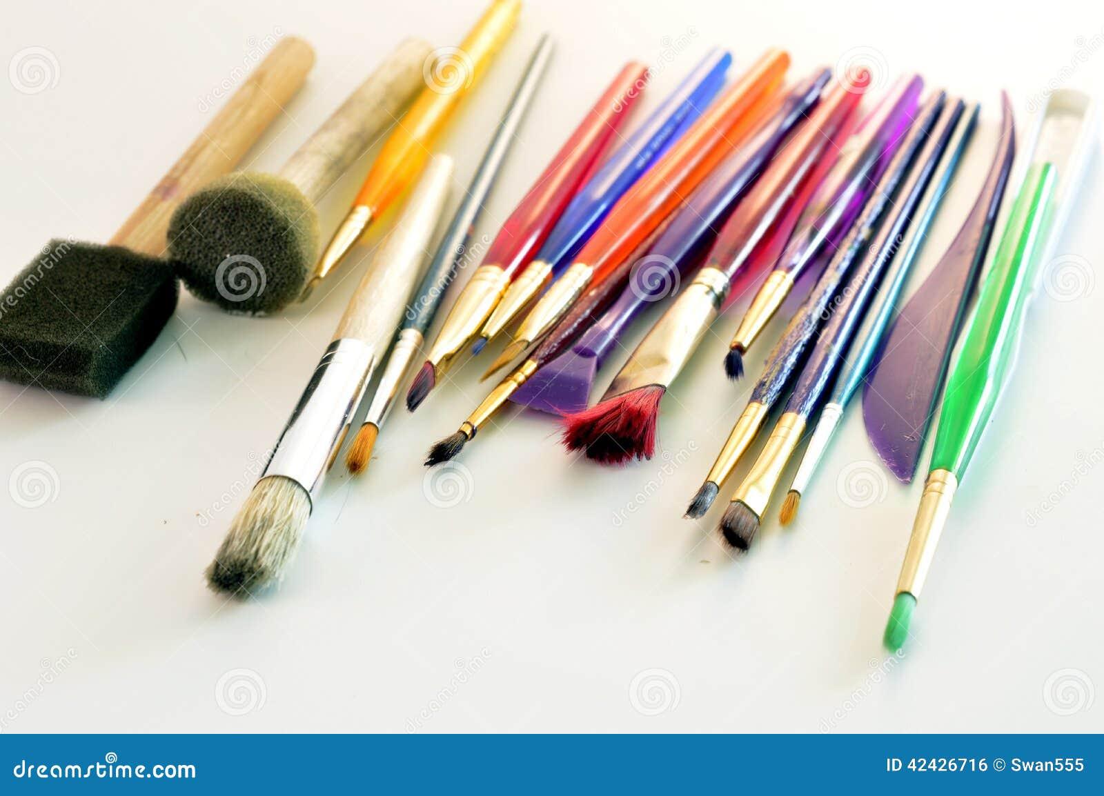 Cepillos usados para dibujar