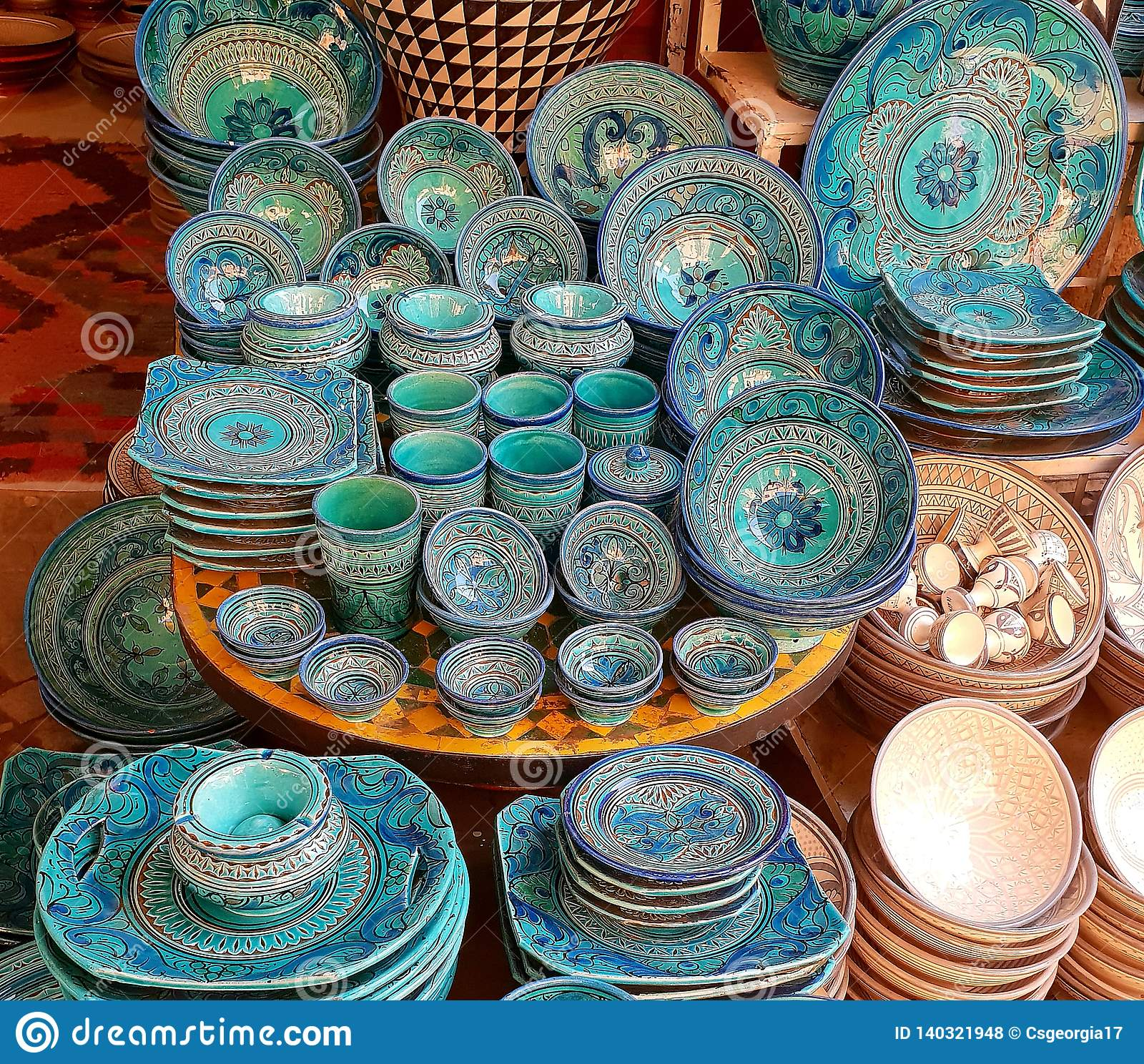 Cerámica marroquí colorida