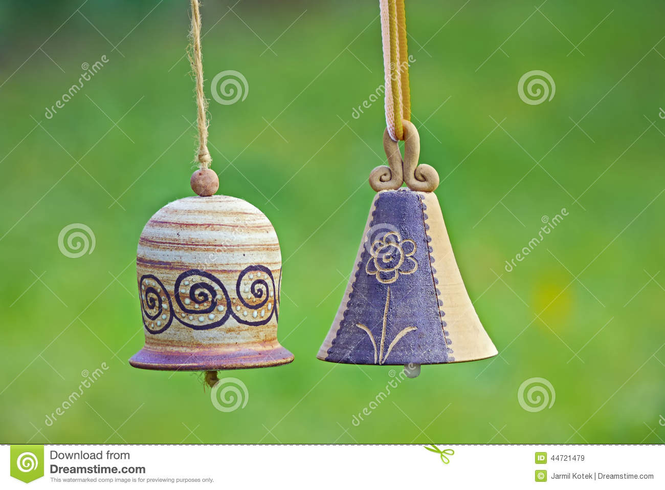 Ceramic Bells In Garden Stock Photo Image 44721479