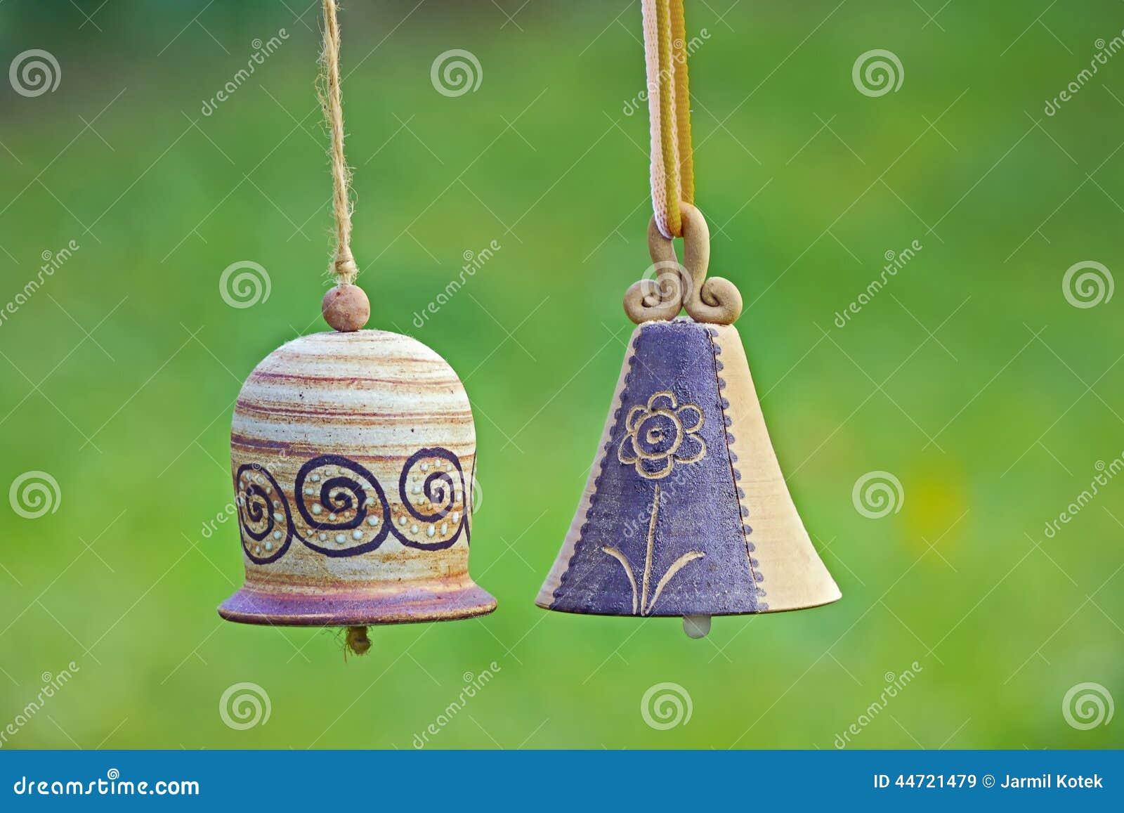 Ceramic Bells In Garden Stock Photo Image 44721479