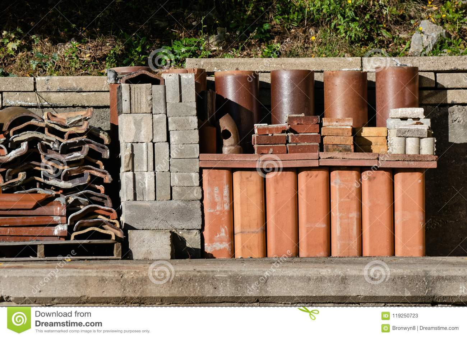 Ceramic And Blocks Scraps In Junkyard Stock Image Image Of - Ceramic tile scraps