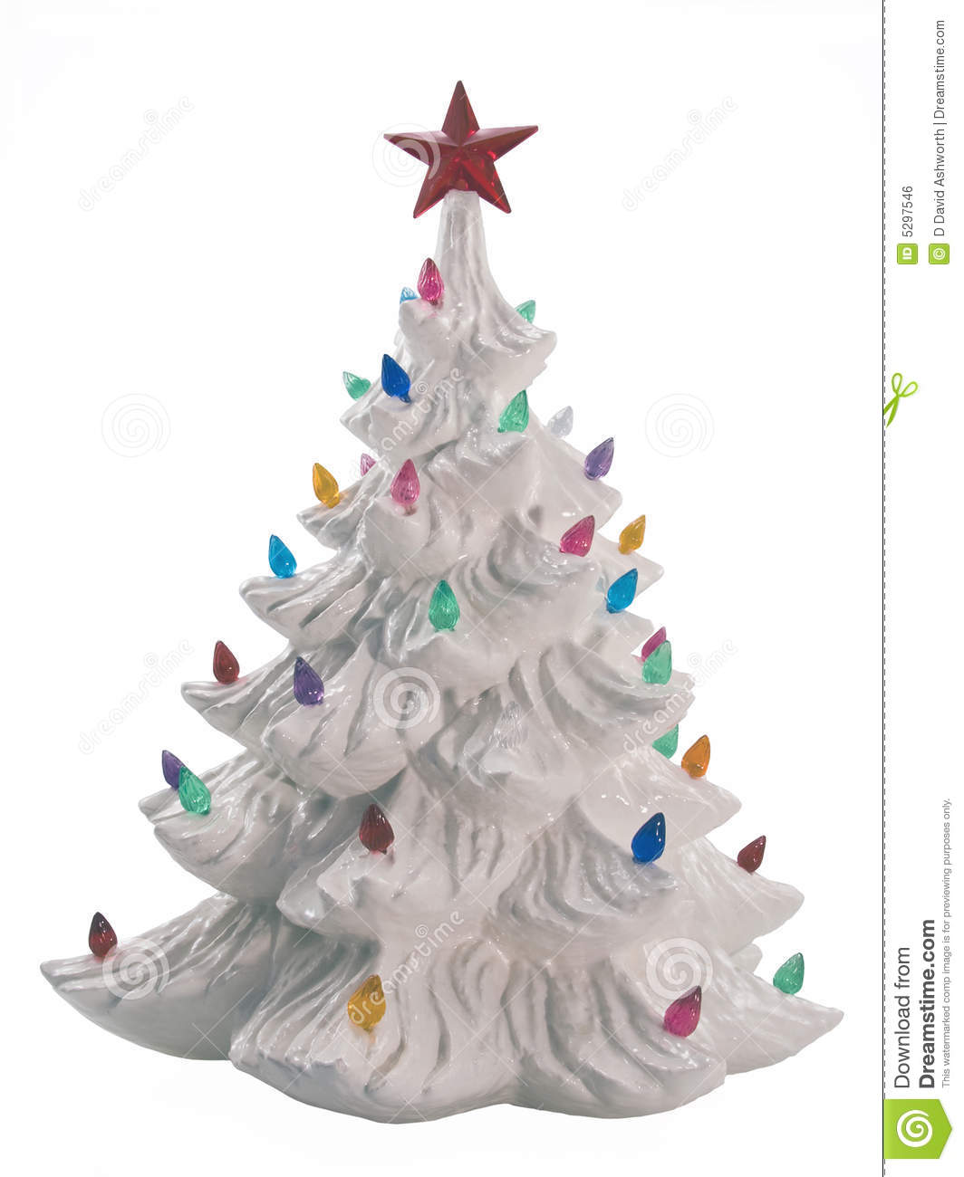 Ceramic Christmas Tree Stock Photo Image Of Purple Pink