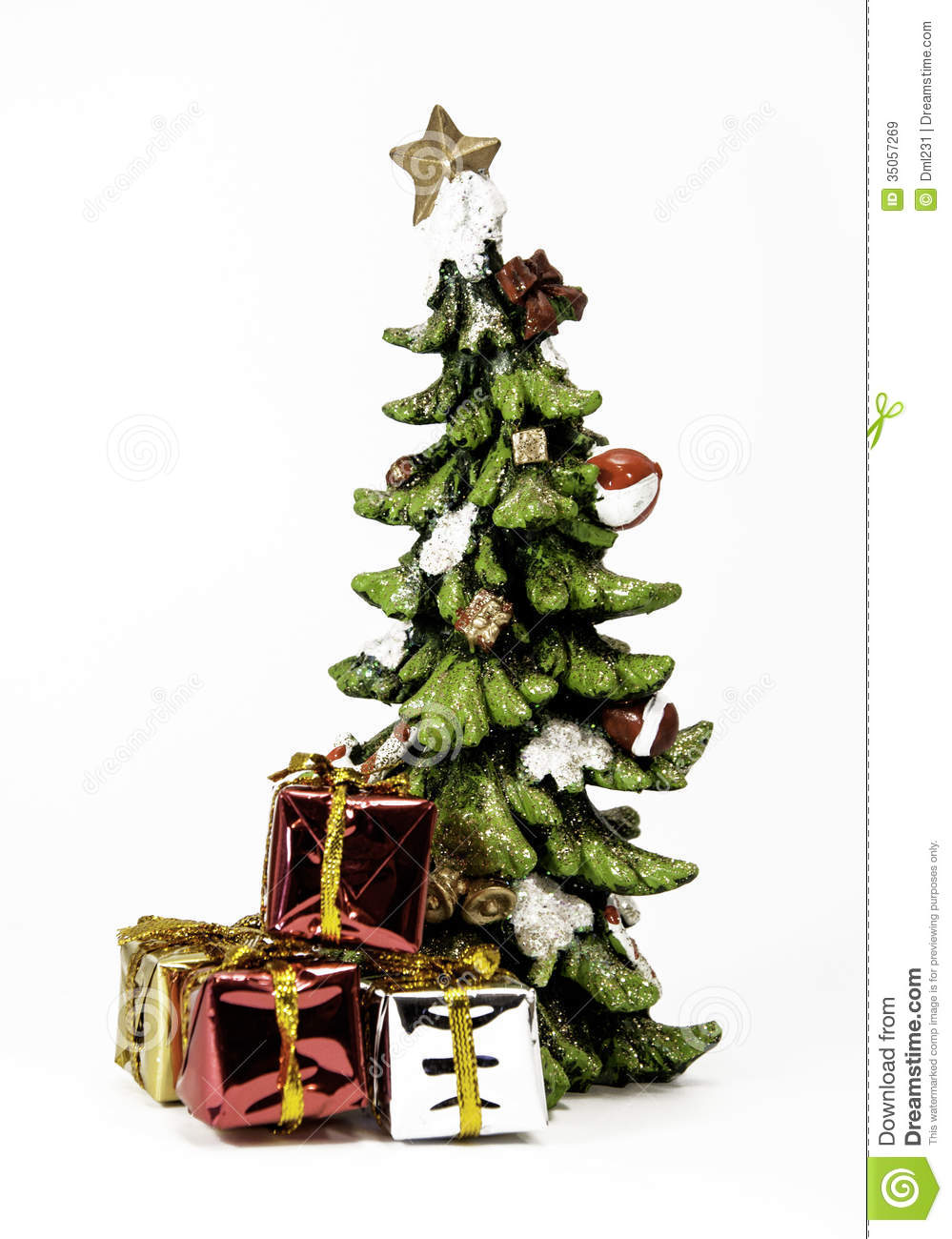 Ceramic Christmas Tree With Gifts Stock Image Image Of Gift
