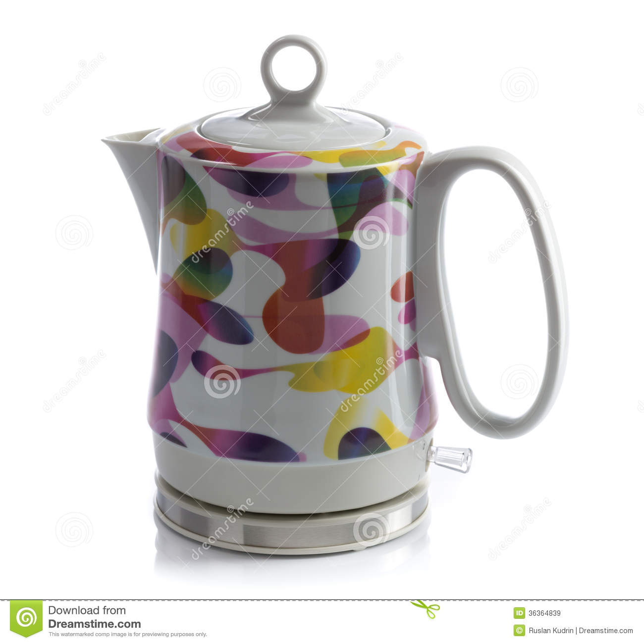 Porcelain Electric Kettle ~ Ceramic electric kettle royalty free stock images image